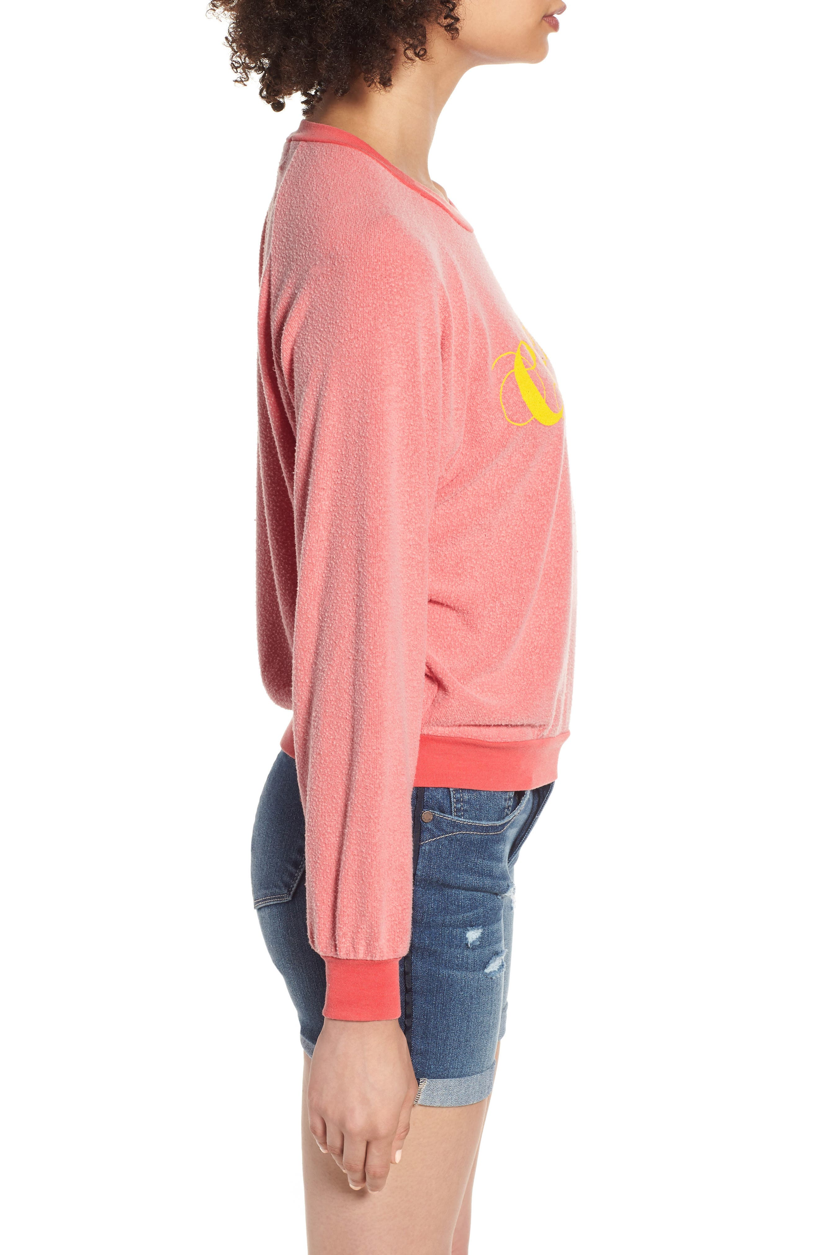 Caliente Junior Sweatshirt,                             Alternate thumbnail 3, color,                             Pigment Hot Lipstick