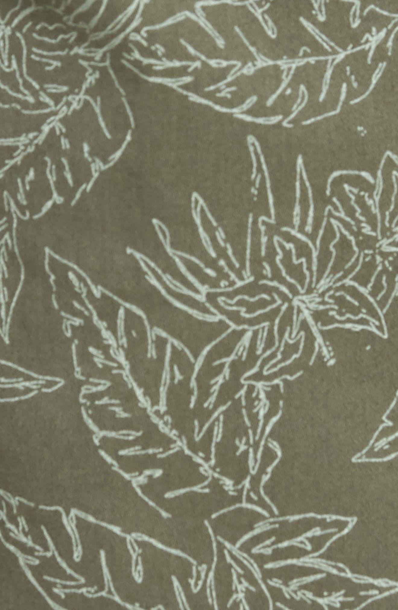 Leaf Print Shorts,                             Alternate thumbnail 5, color,                             Green