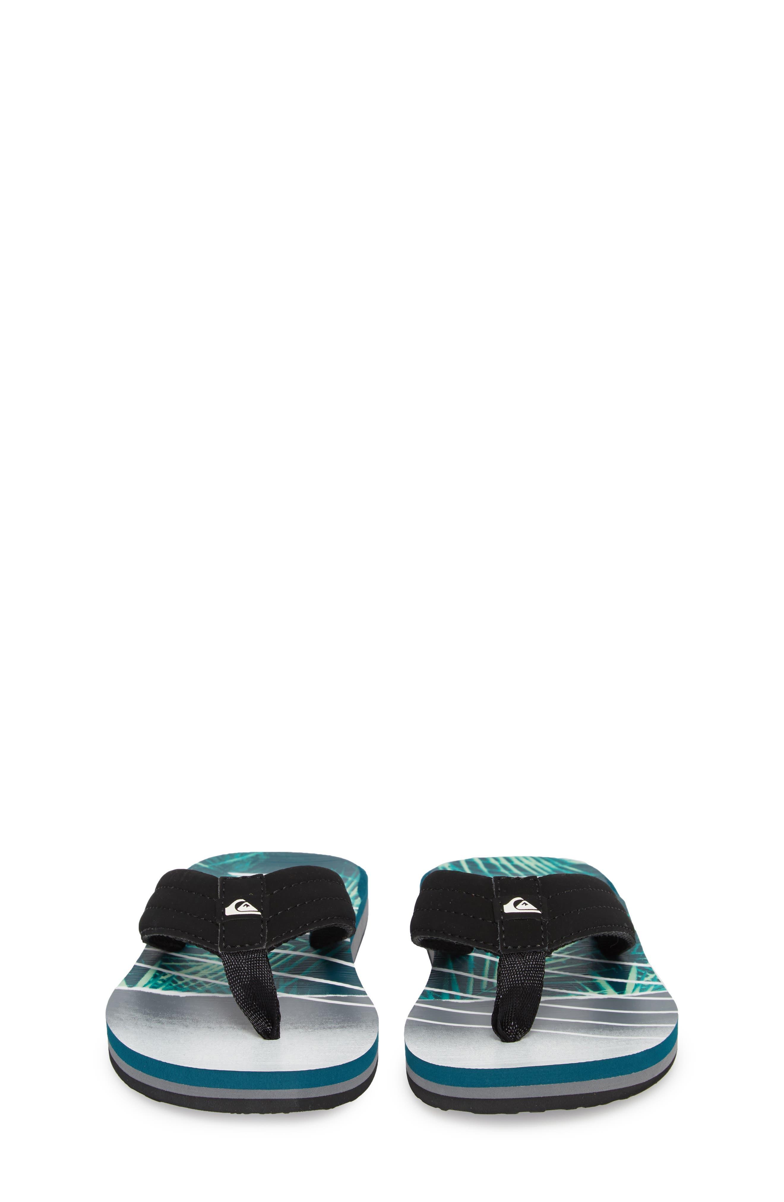 Carver Flip Flop,                             Alternate thumbnail 5, color,                             Black/ Green