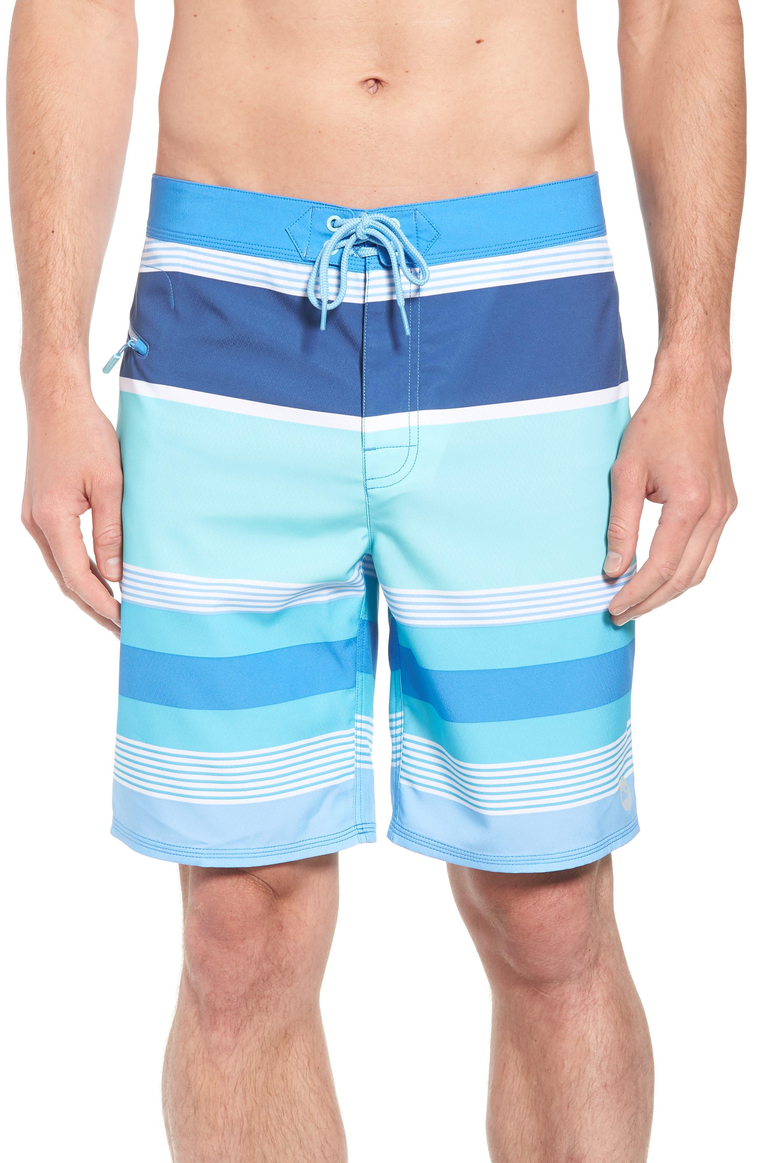 Peaks Island Board Shorts,                         Main,                         color, Poolside