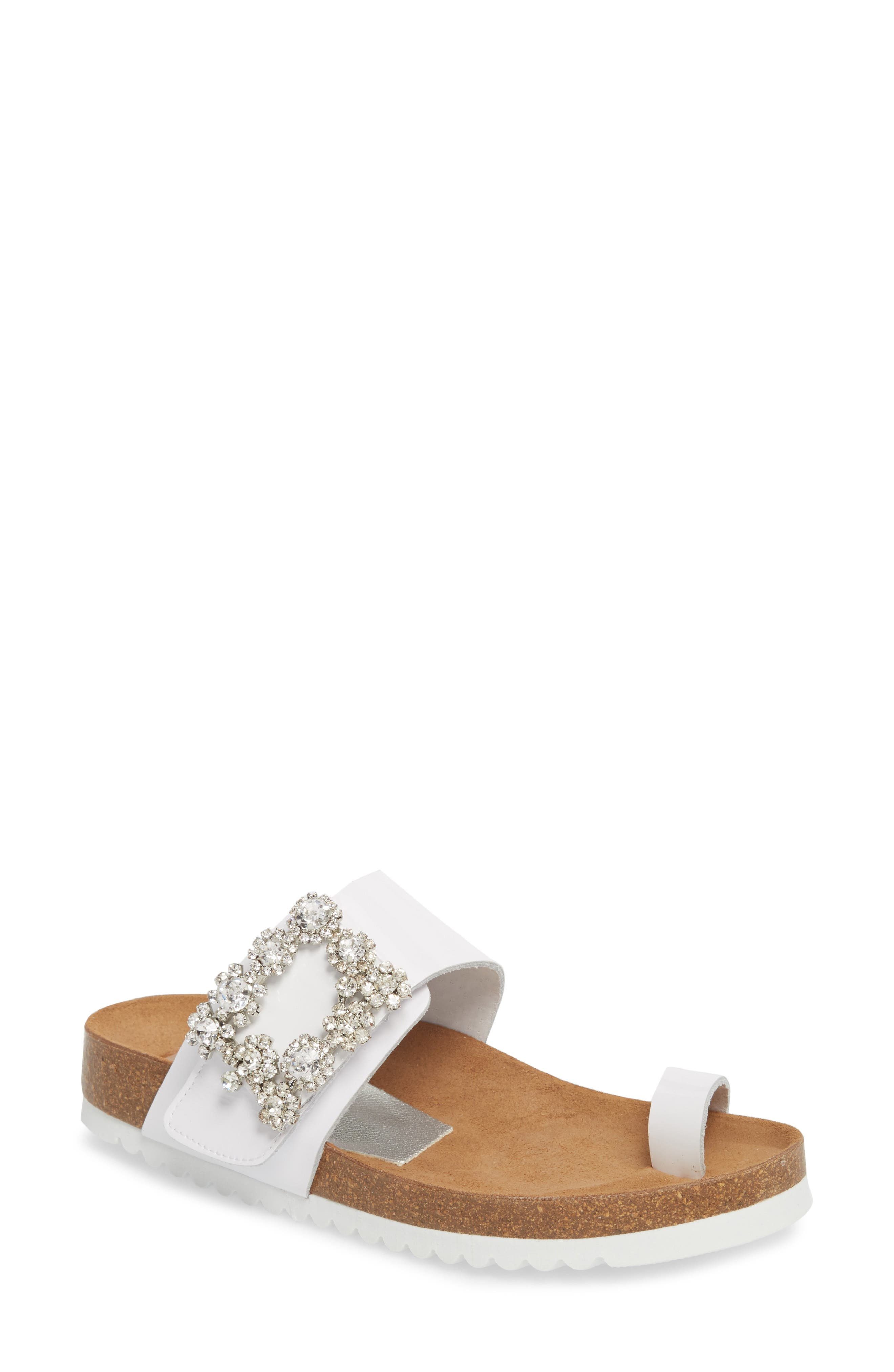 Jeffrey Campbell Bianca Embellished Slide Sandal (Women)