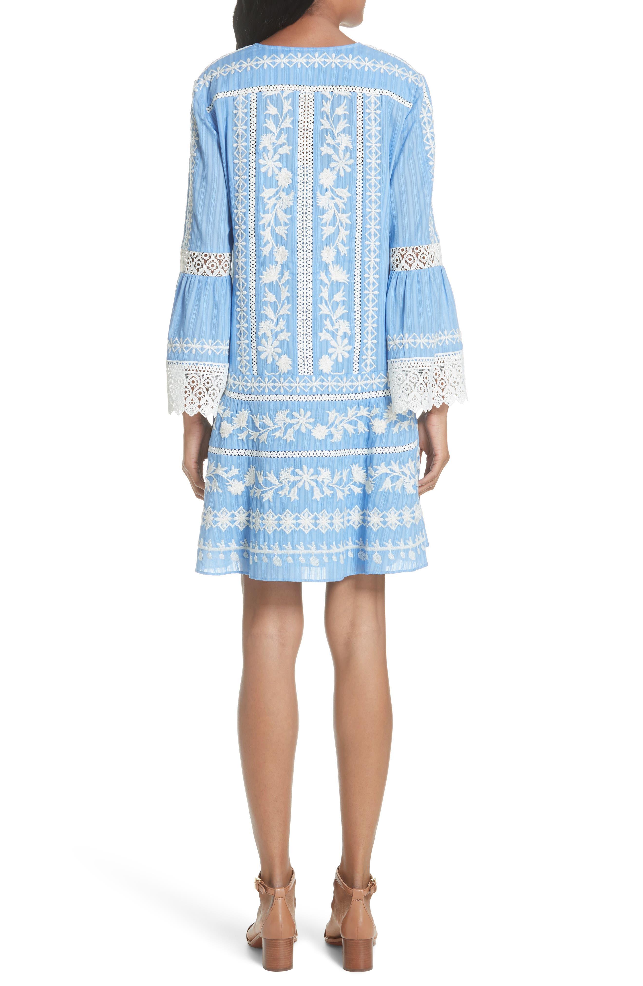 Gabriella Cotton Shift Dress,                             Alternate thumbnail 2, color,                             Blue Dusk