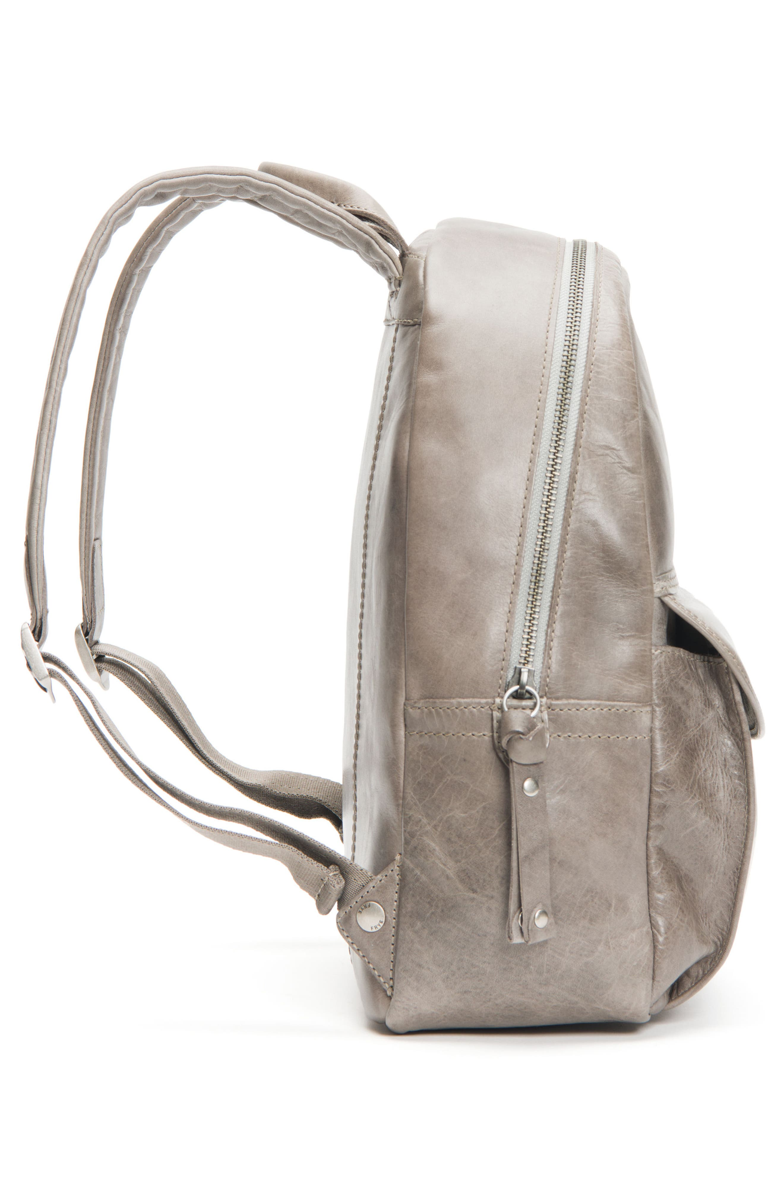 Melissa Leather Backpack,                             Alternate thumbnail 5, color,                             Ice