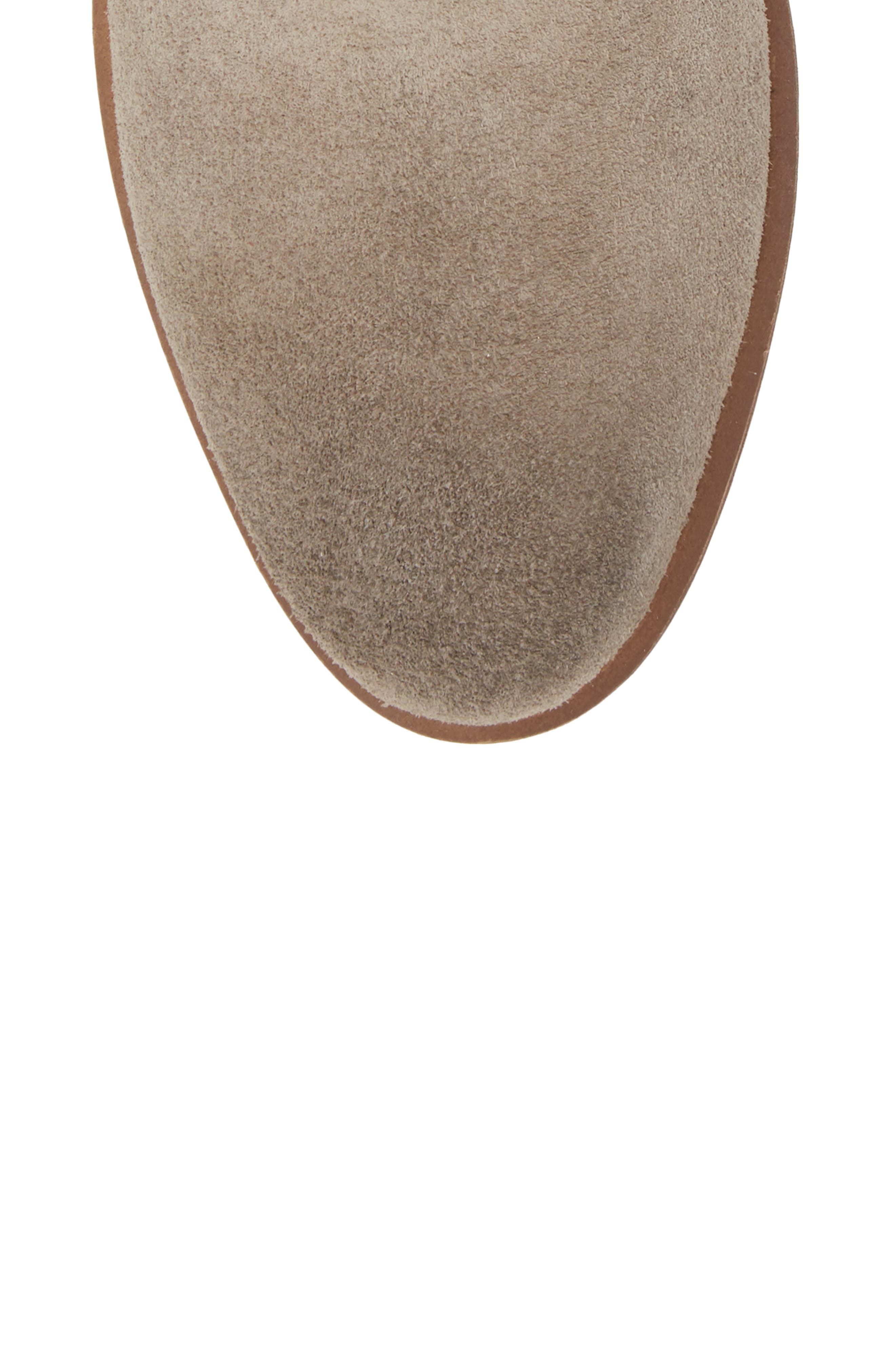 Brice Notched Bootie,                             Alternate thumbnail 5, color,                             Grey Suede