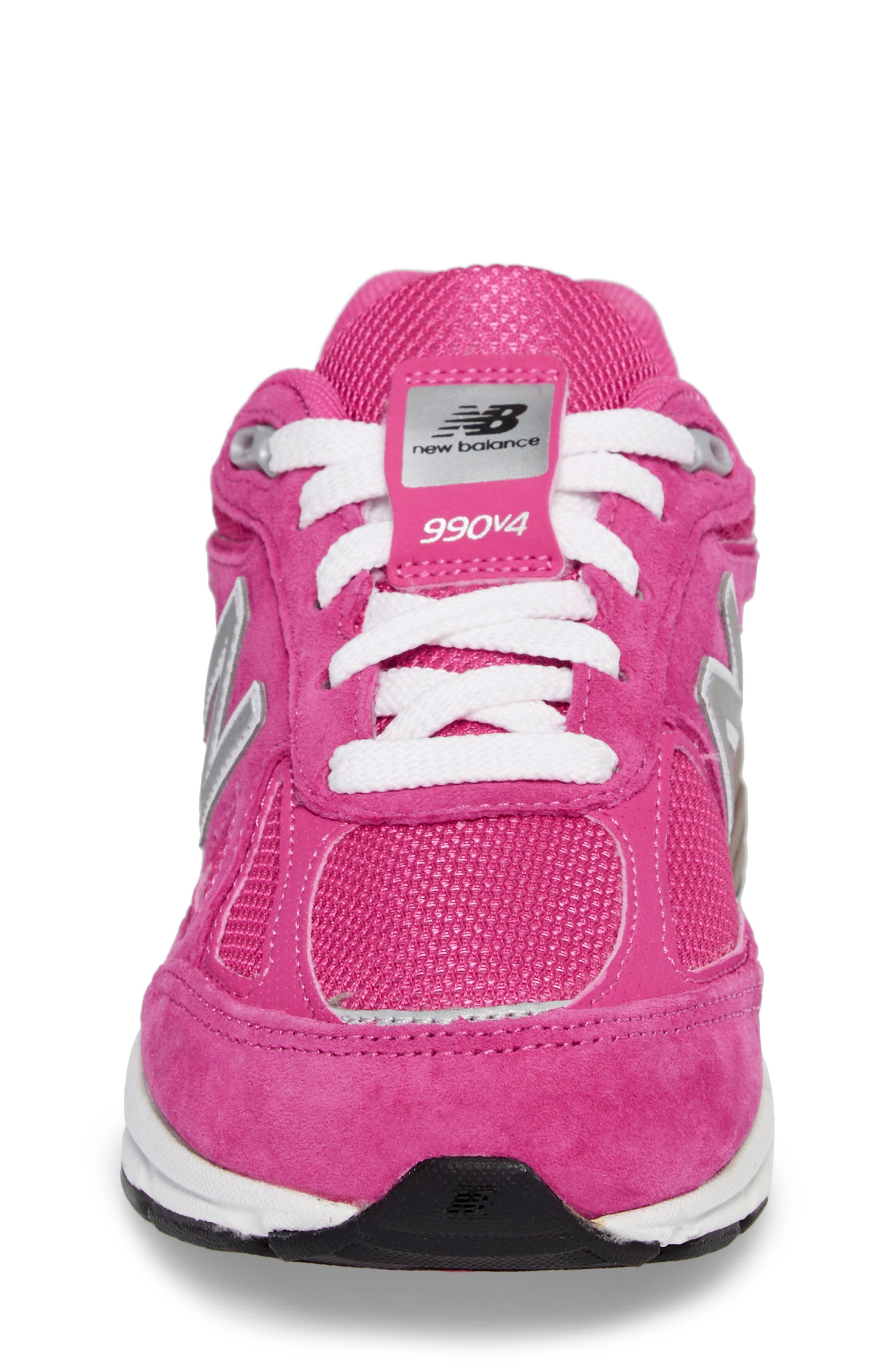 990v4 Sneaker,                             Alternate thumbnail 4, color,                             Pink