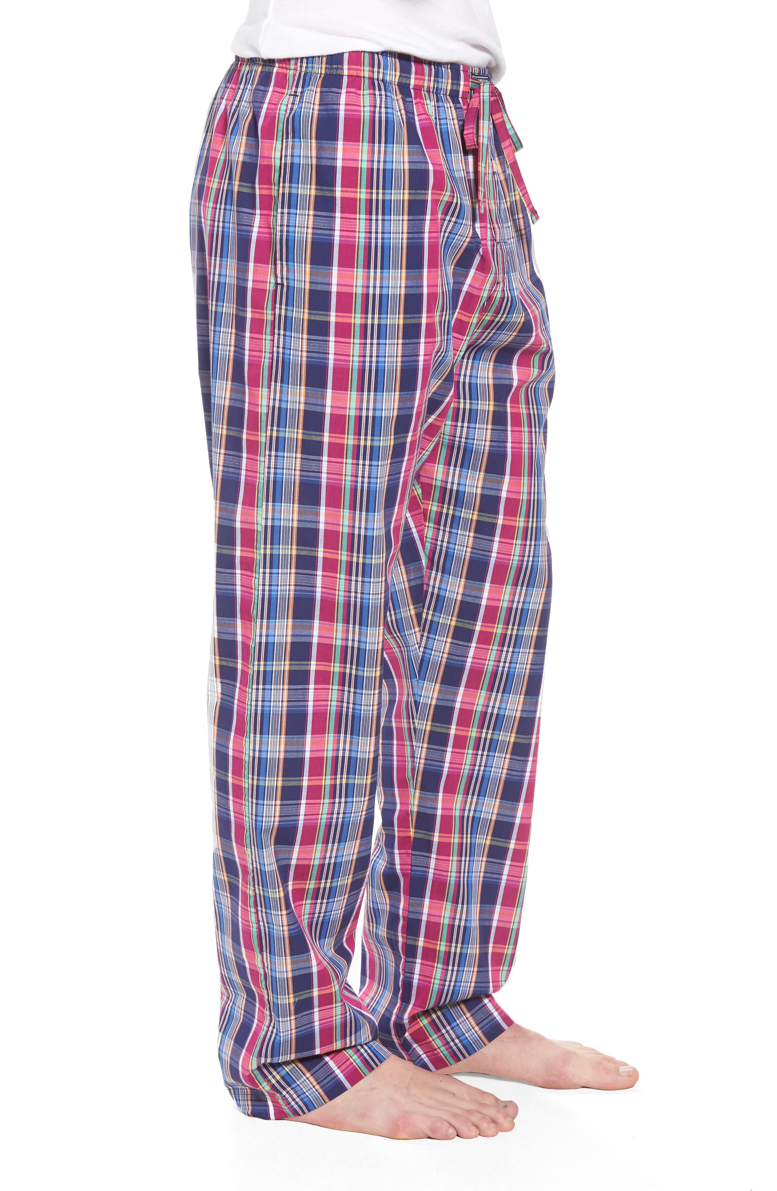Cotton Lounge Pants,                             Alternate thumbnail 2, color,                             Collins Plaid