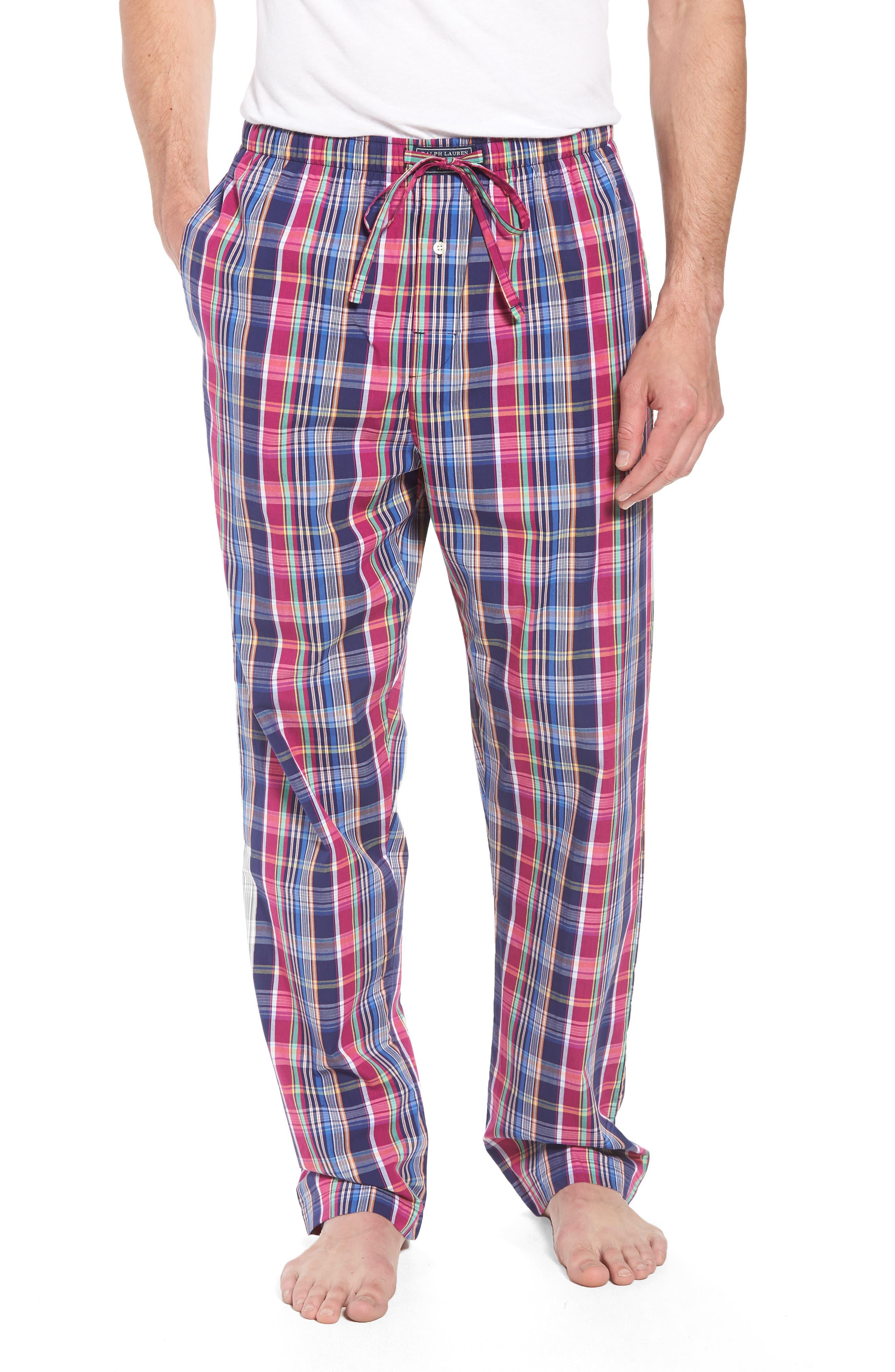 Cotton Lounge Pants,                             Main thumbnail 1, color,                             Collins Plaid