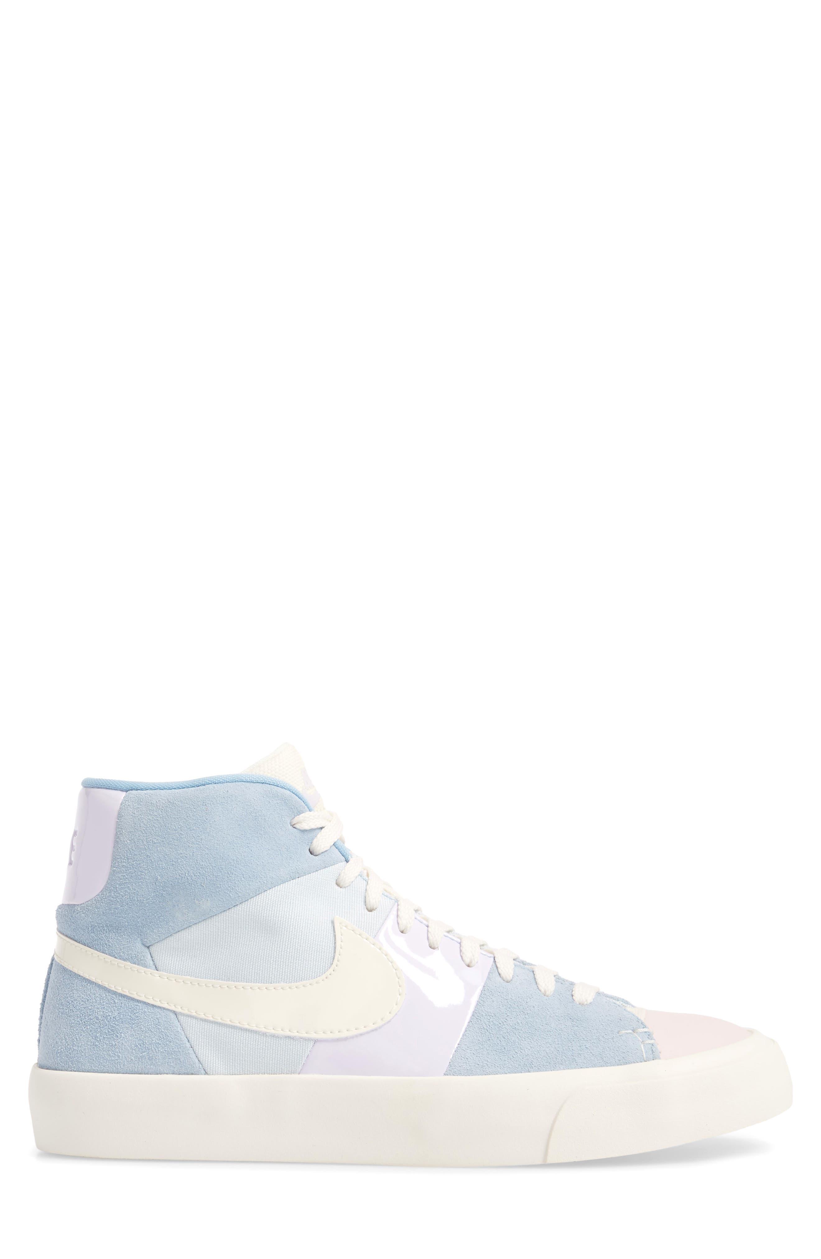 Blazer Royal Easter QS High Top Sneaker,                             Alternate thumbnail 3, color,                             Arctic Pink/ Sail-Blue-Blue