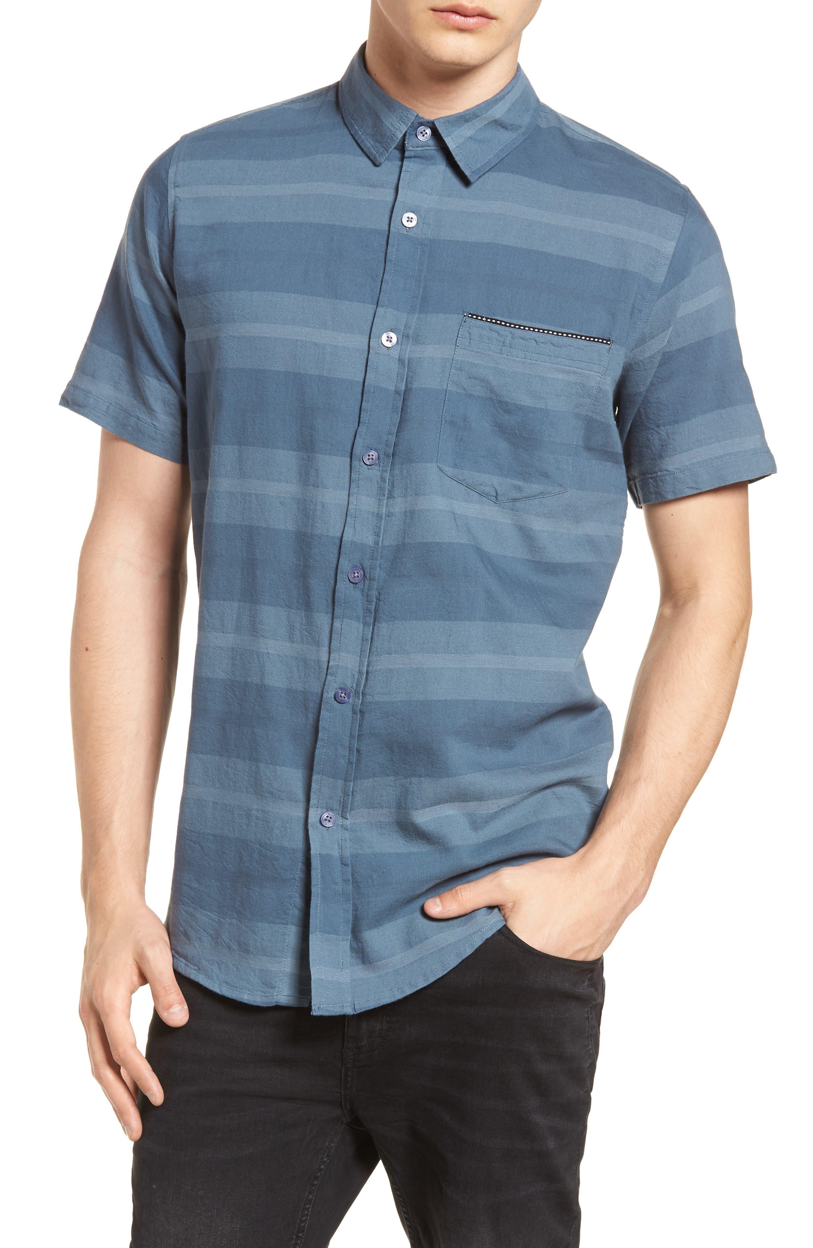 Dobson Woven Shirt,                             Main thumbnail 1, color,                             Storm Blue/Prison Blue Stripe