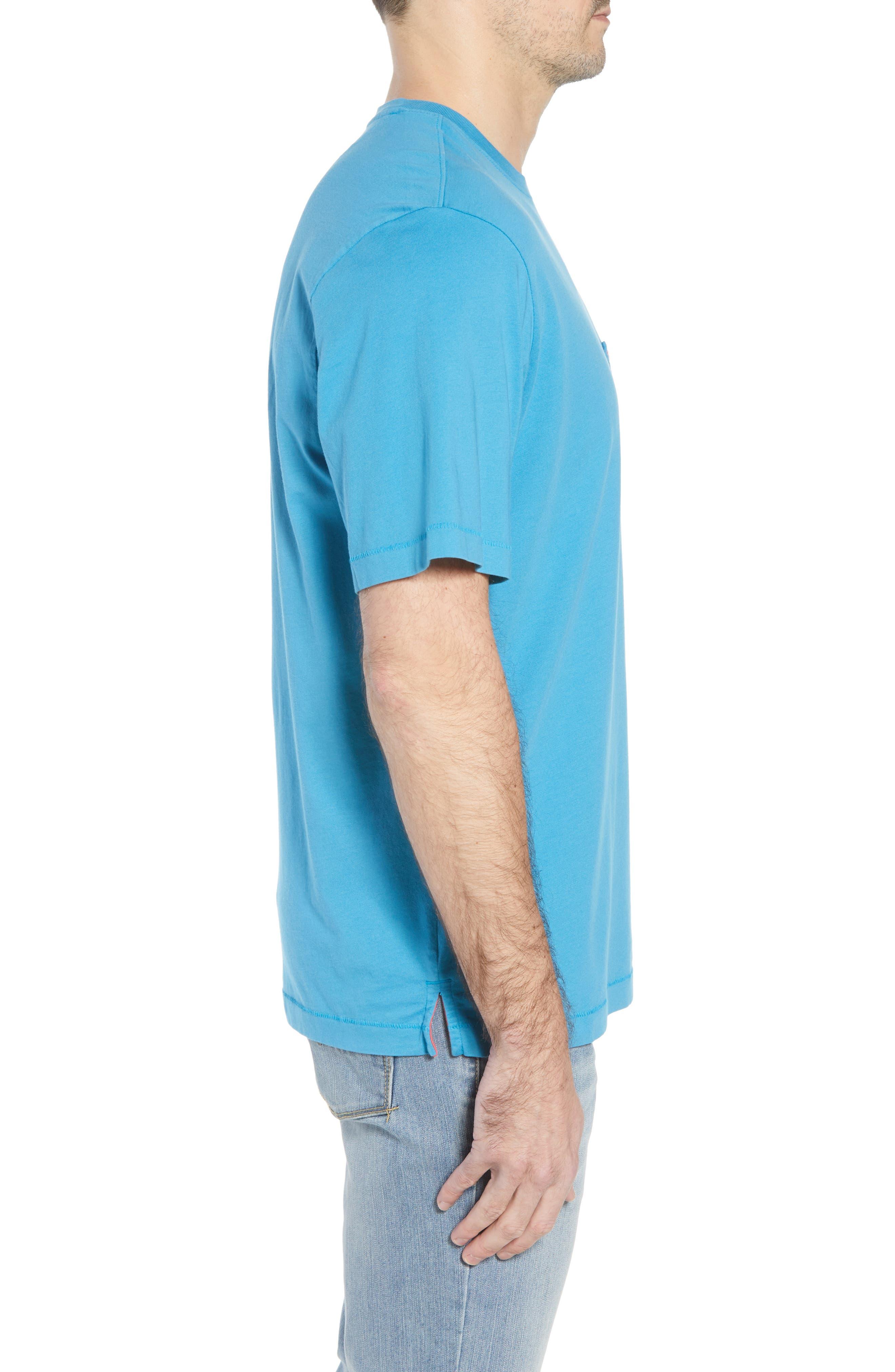 New Bali Sky Pima Cotton Pocket T-Shirt,                             Alternate thumbnail 3, color,                             Voyager Blue
