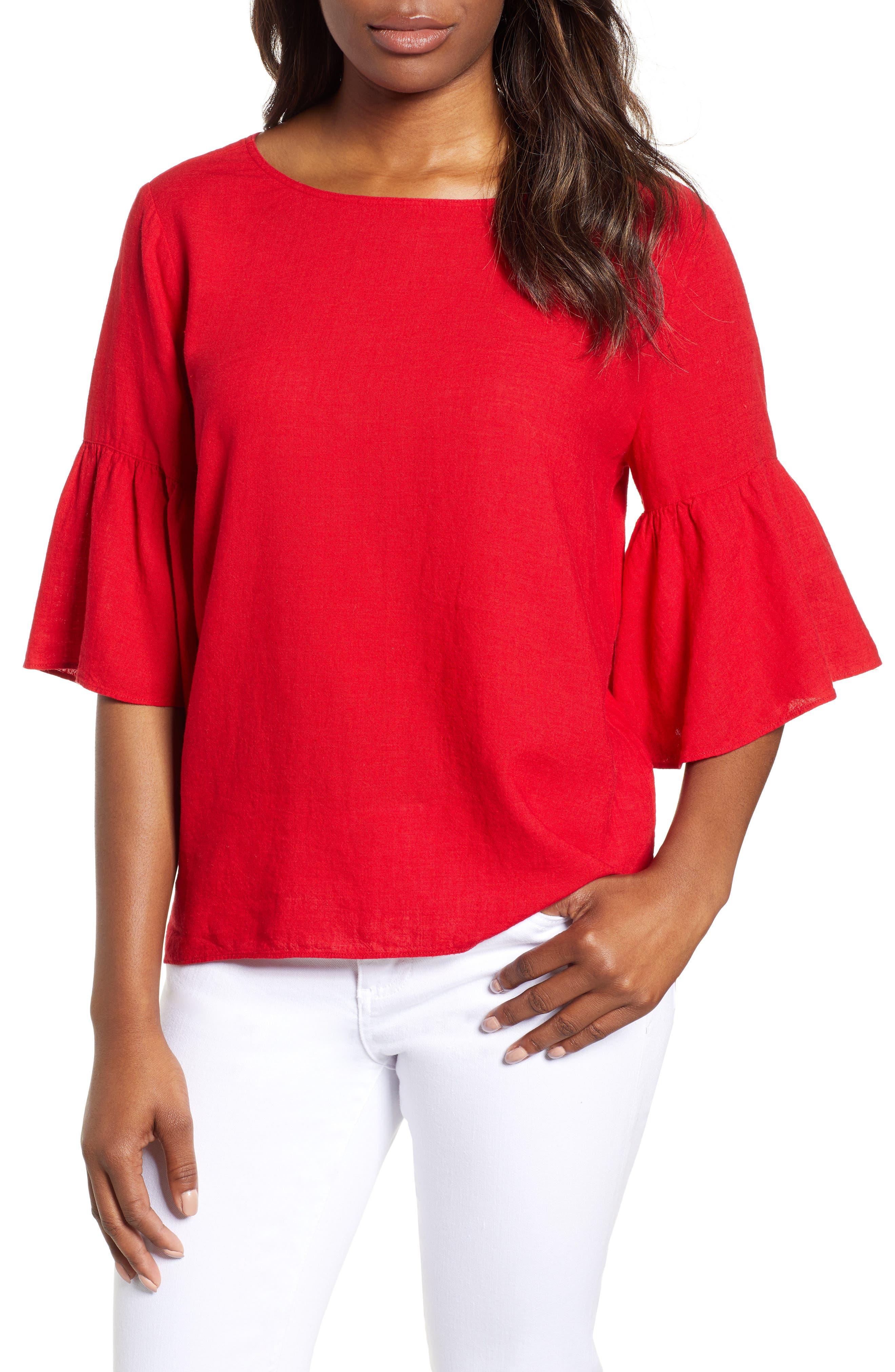 Rumba Top,                         Main,                         color, Red Sangria