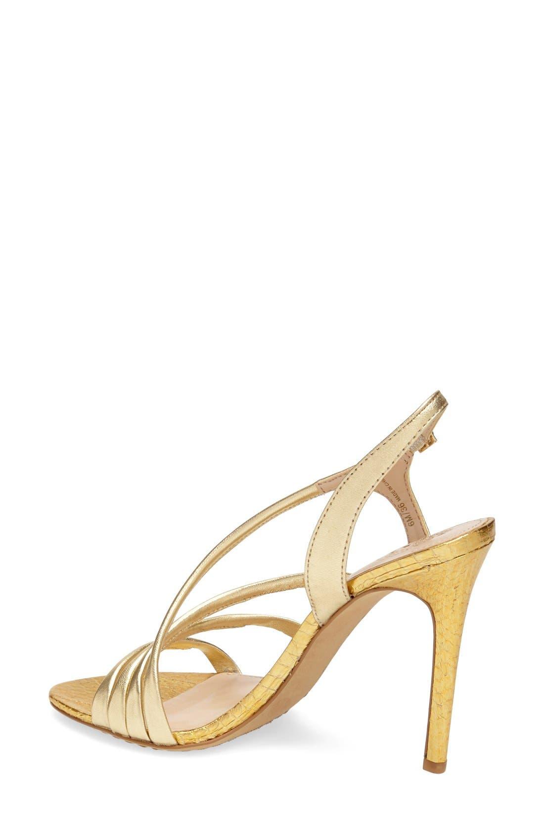 'Tiernan' Strappy Leather Sandal,                             Alternate thumbnail 2, color,                             Gold