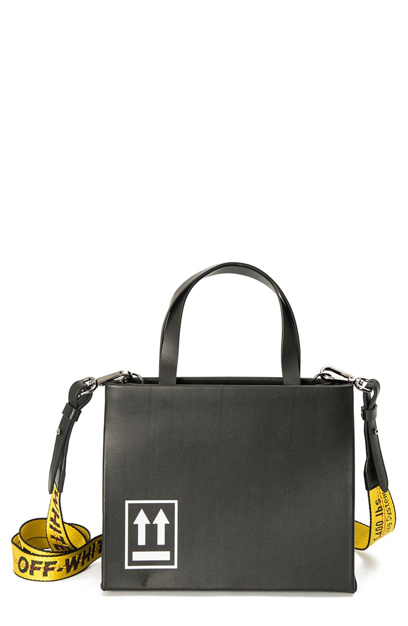 Off-White Medium Leather Box Bag