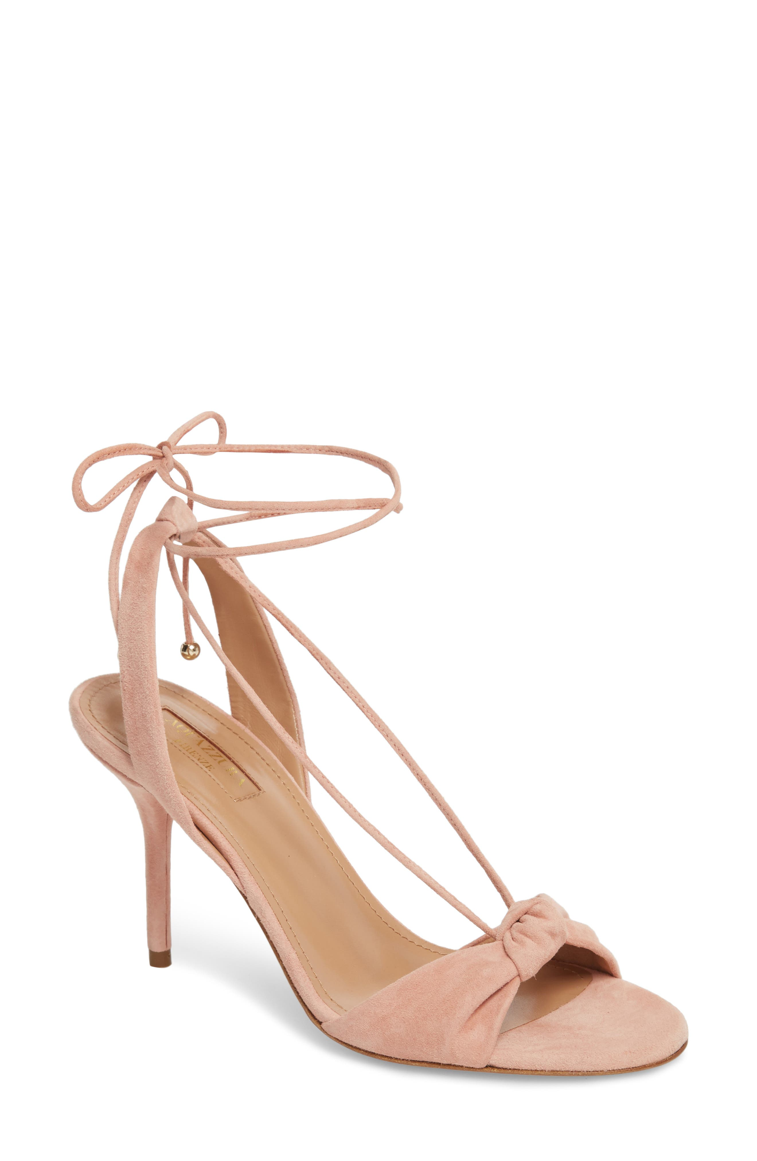 Virginie Lace-Up Sandal,                         Main,                         color, French Rose