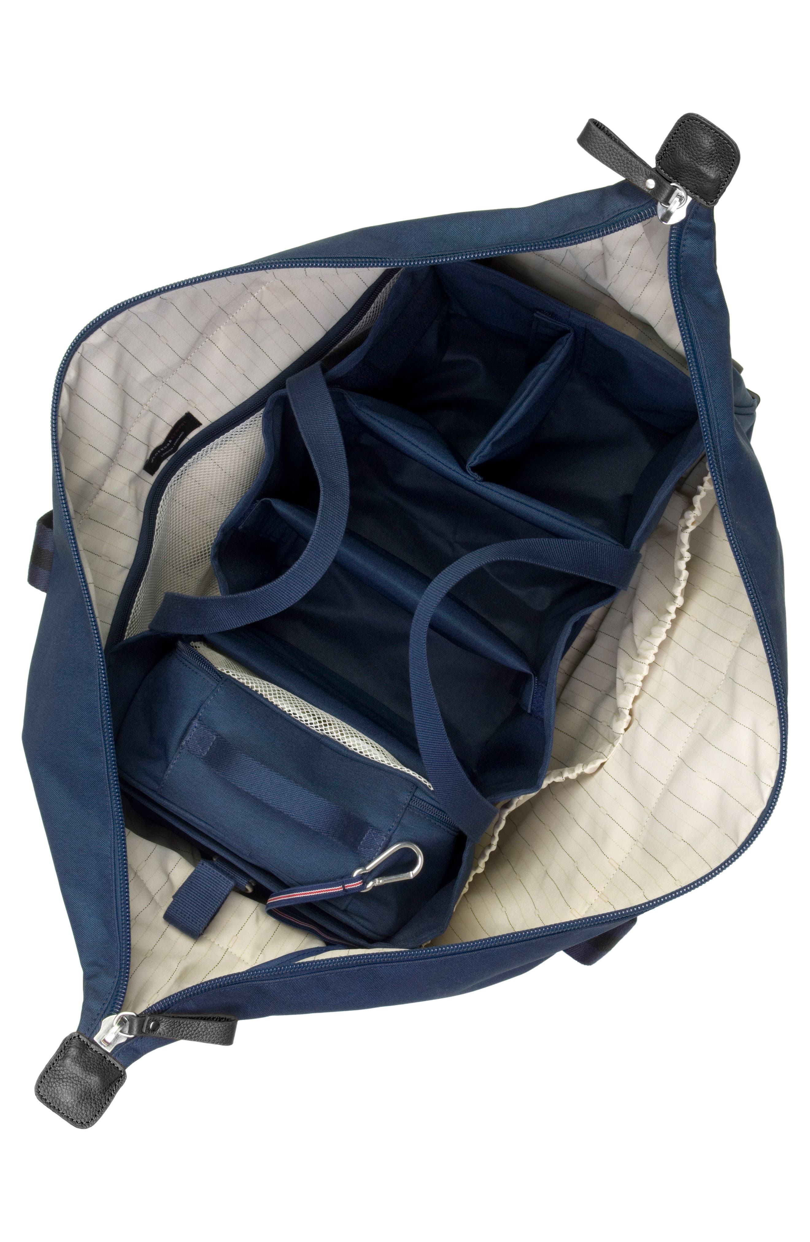 Cabin Wheeled Carry-On with Hanging Organizer,                             Alternate thumbnail 5, color,                             Navy