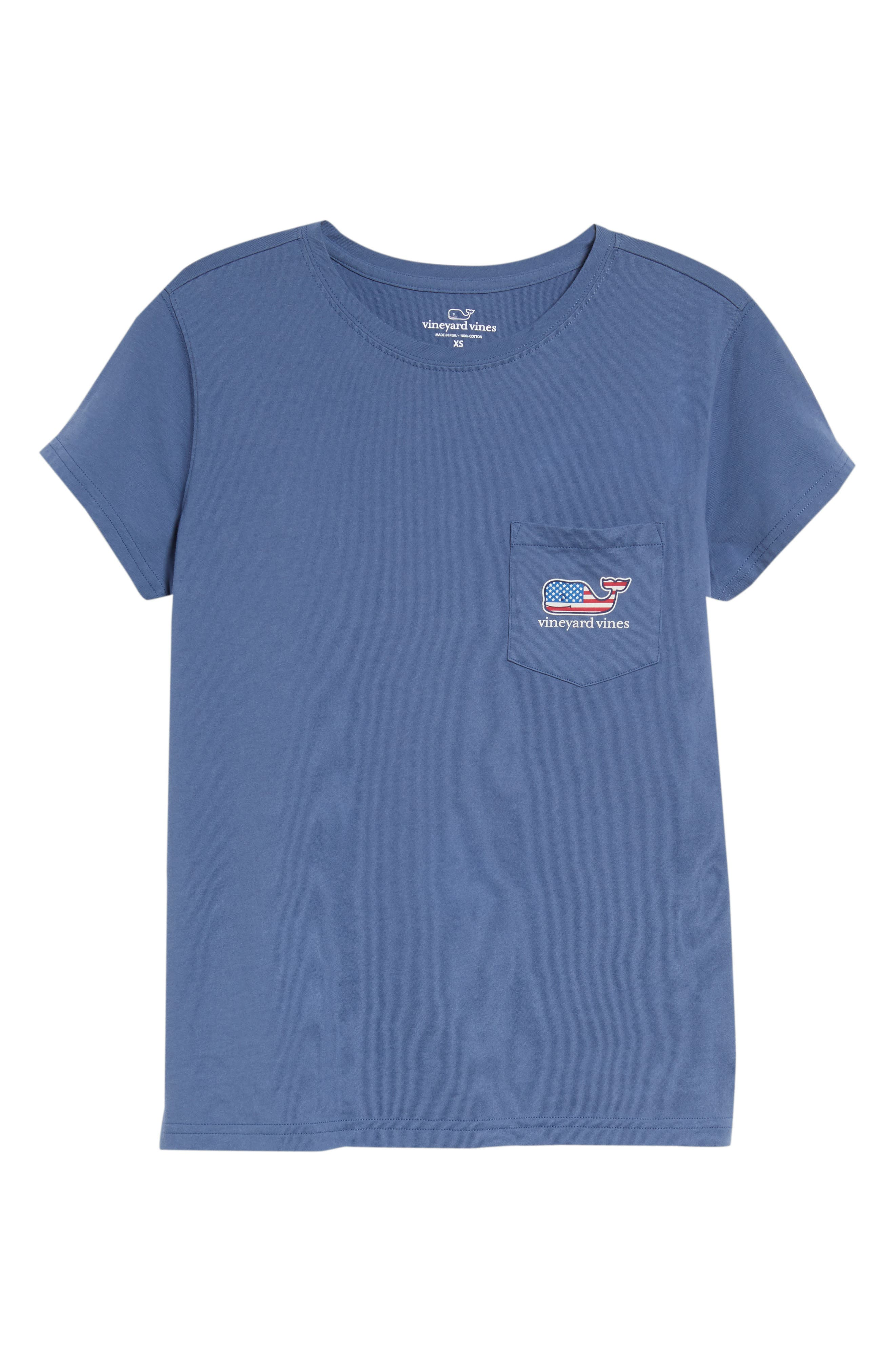 Whale Flag Pocket Tee,                             Alternate thumbnail 6, color,                             Moonshine