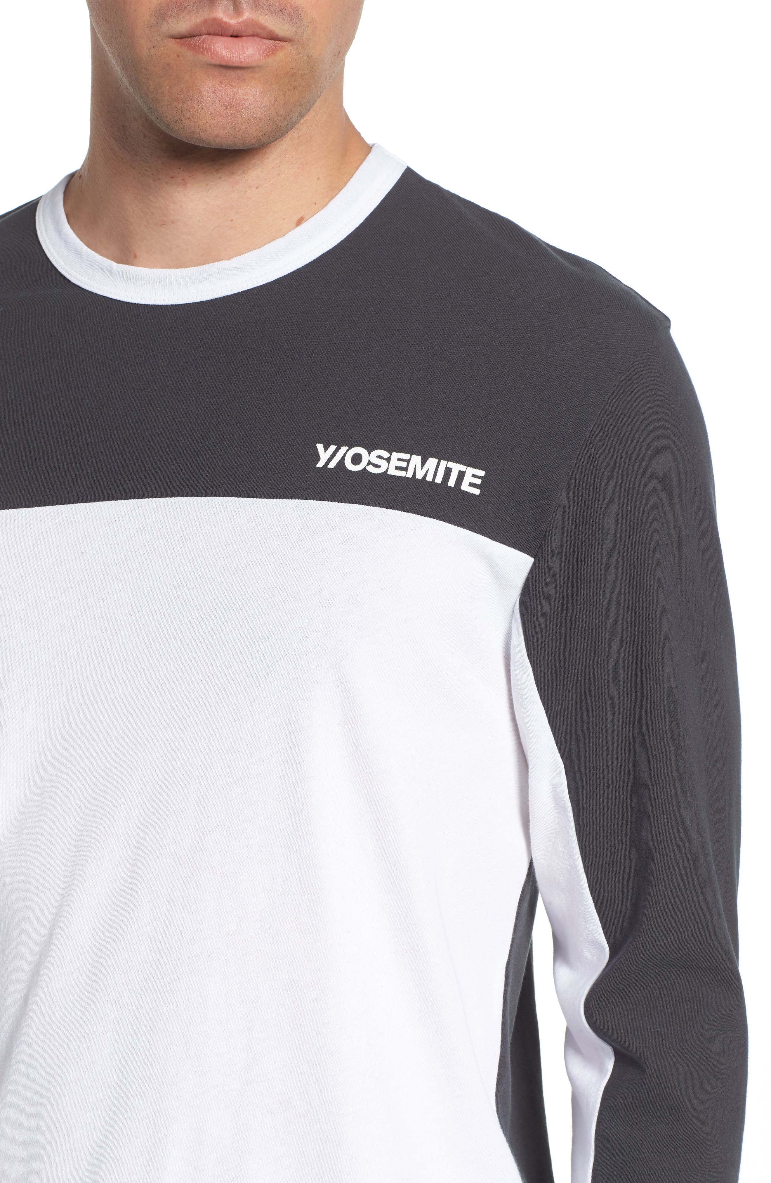 Colorblock Motocross Shirt,                             Alternate thumbnail 4, color,                             Carbon White