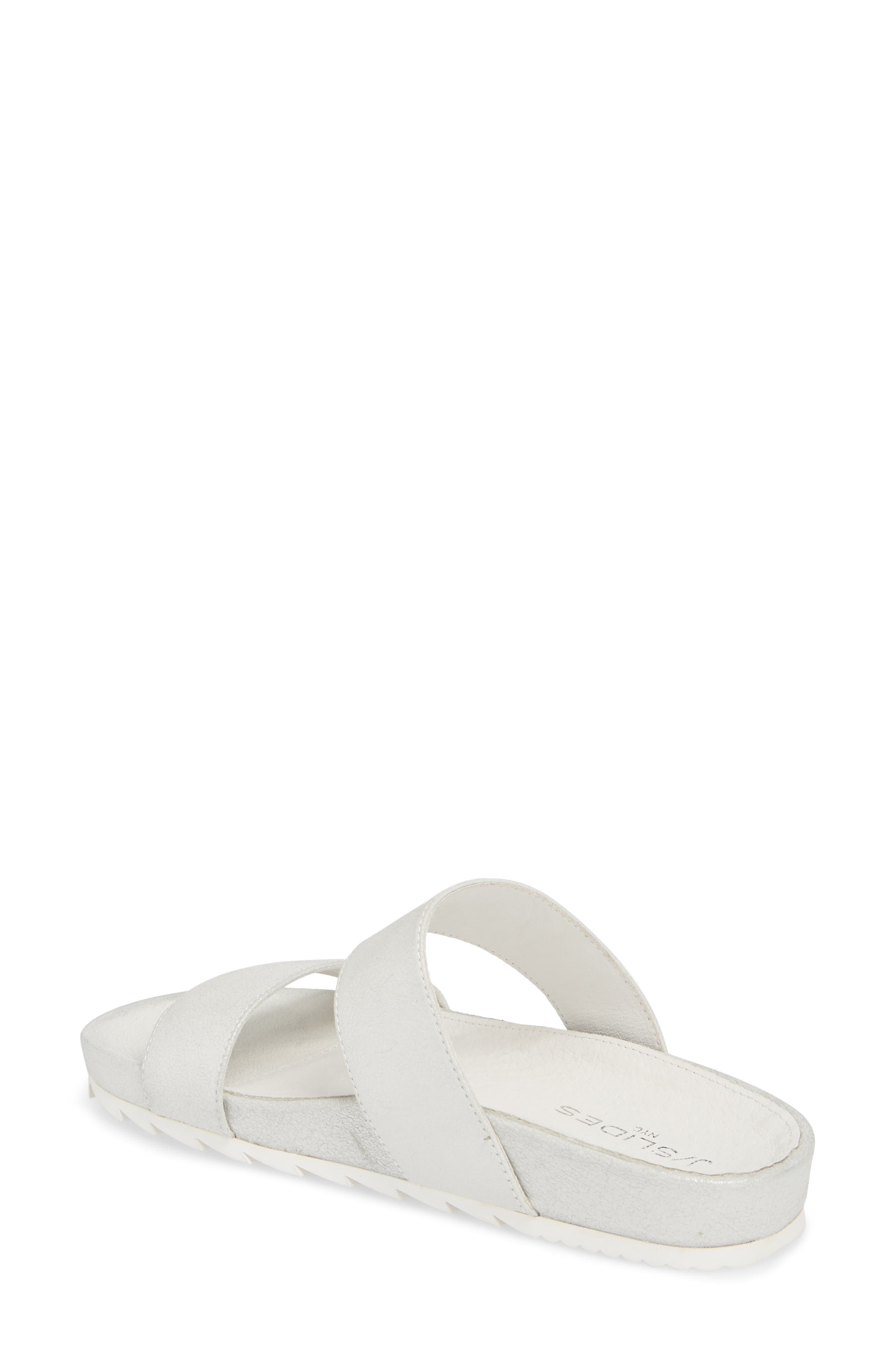 Edie Sandal,                             Alternate thumbnail 2, color,                             Silver Fabric