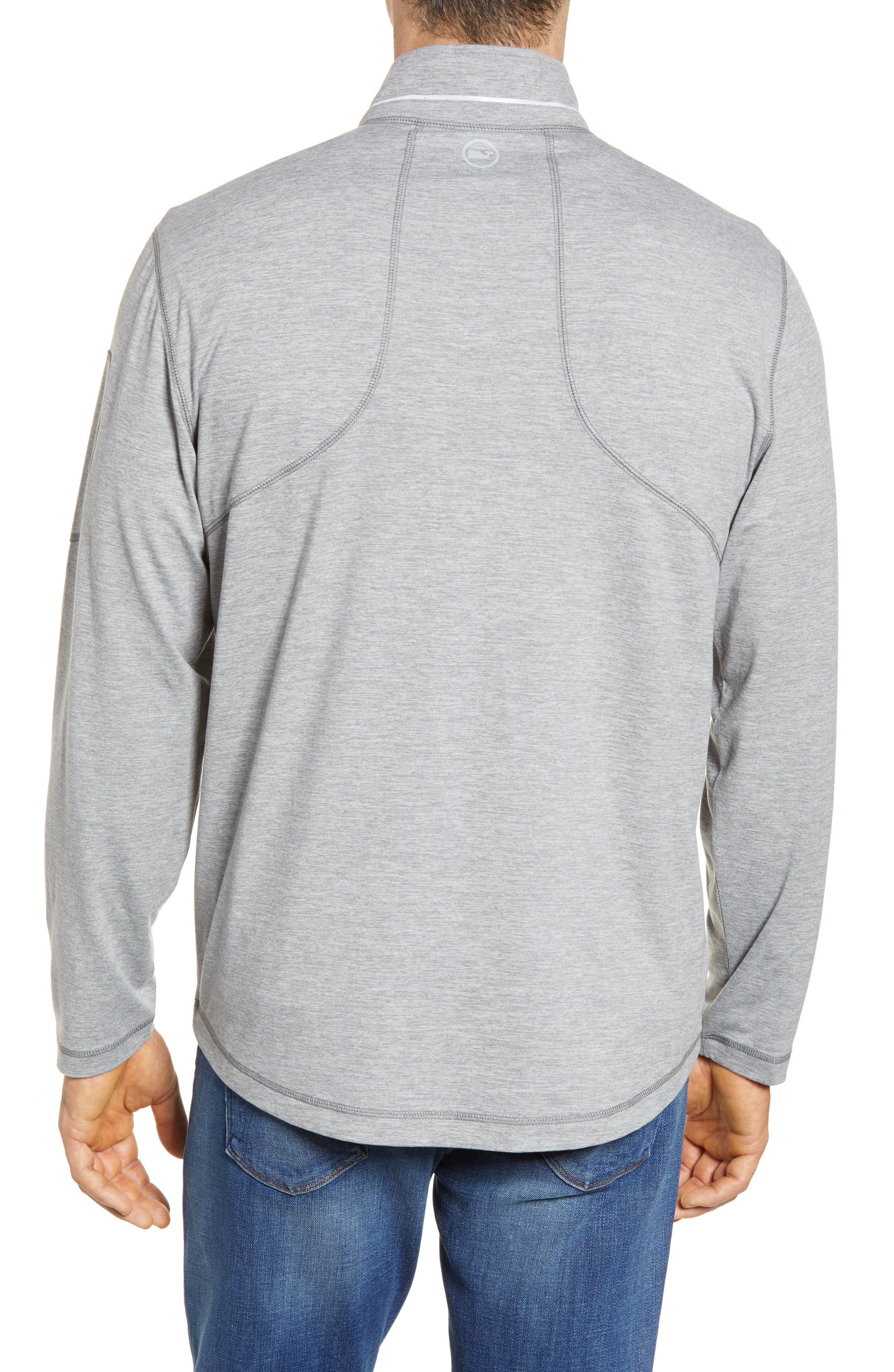 Performance Half Zip Pullover,                             Alternate thumbnail 2, color,                             Gray Heather