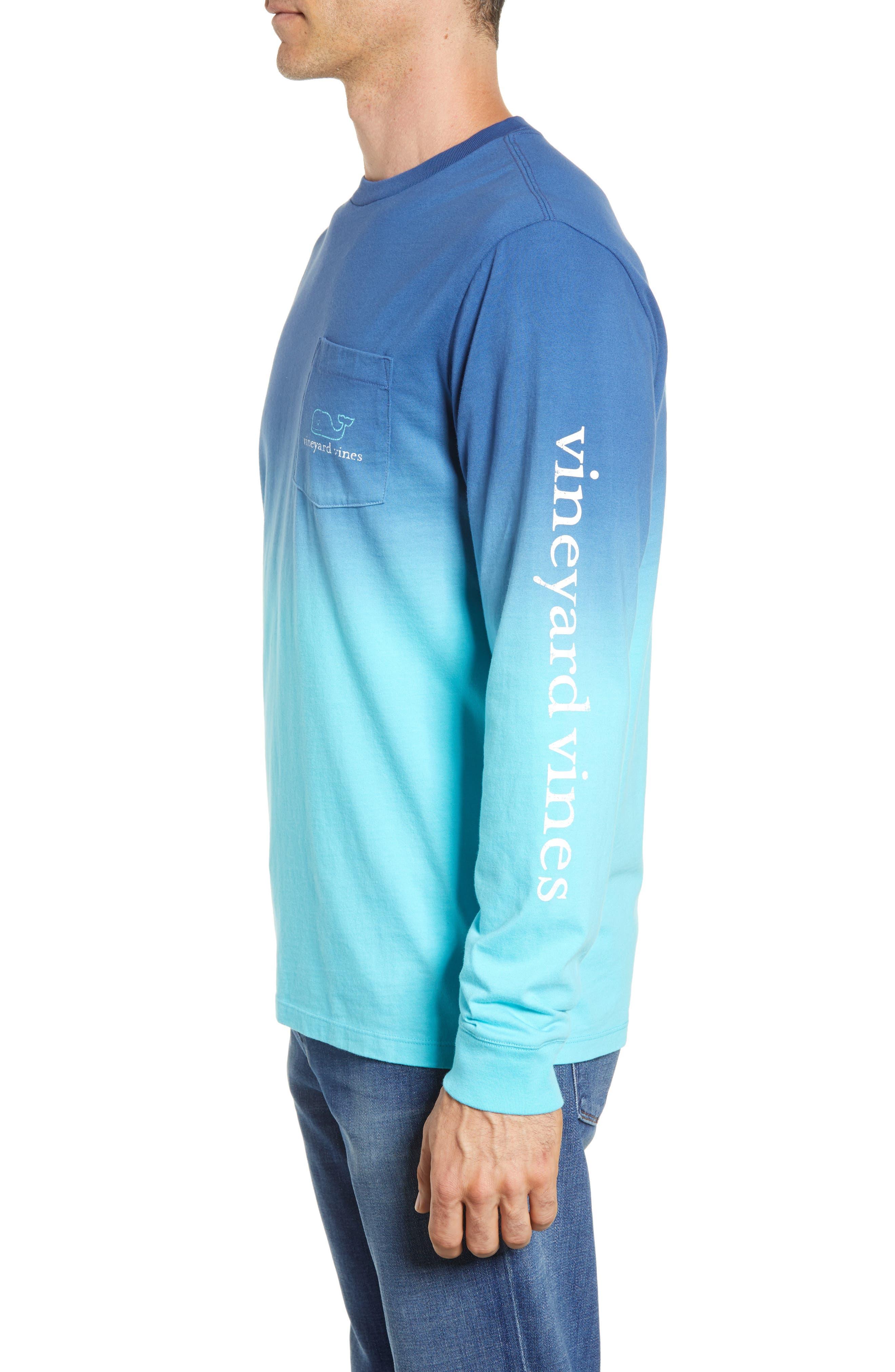 Dip Dye Two-Tone Whale Pocket T-Shirt,                             Alternate thumbnail 3, color,                             Moonshine