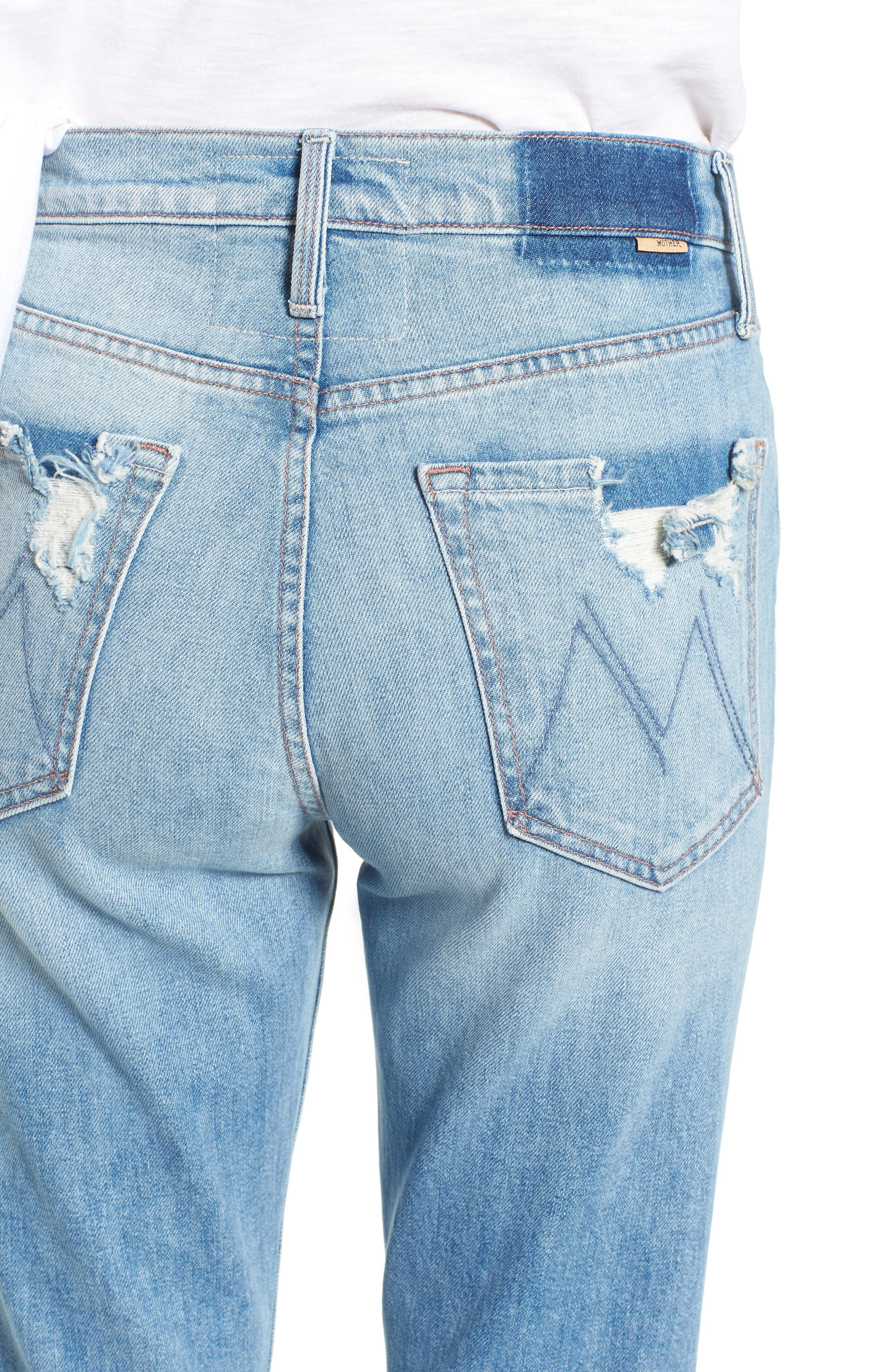 The Tripper Ripped Ankle Flare Jeans,                             Alternate thumbnail 4, color,                             Misbeliever