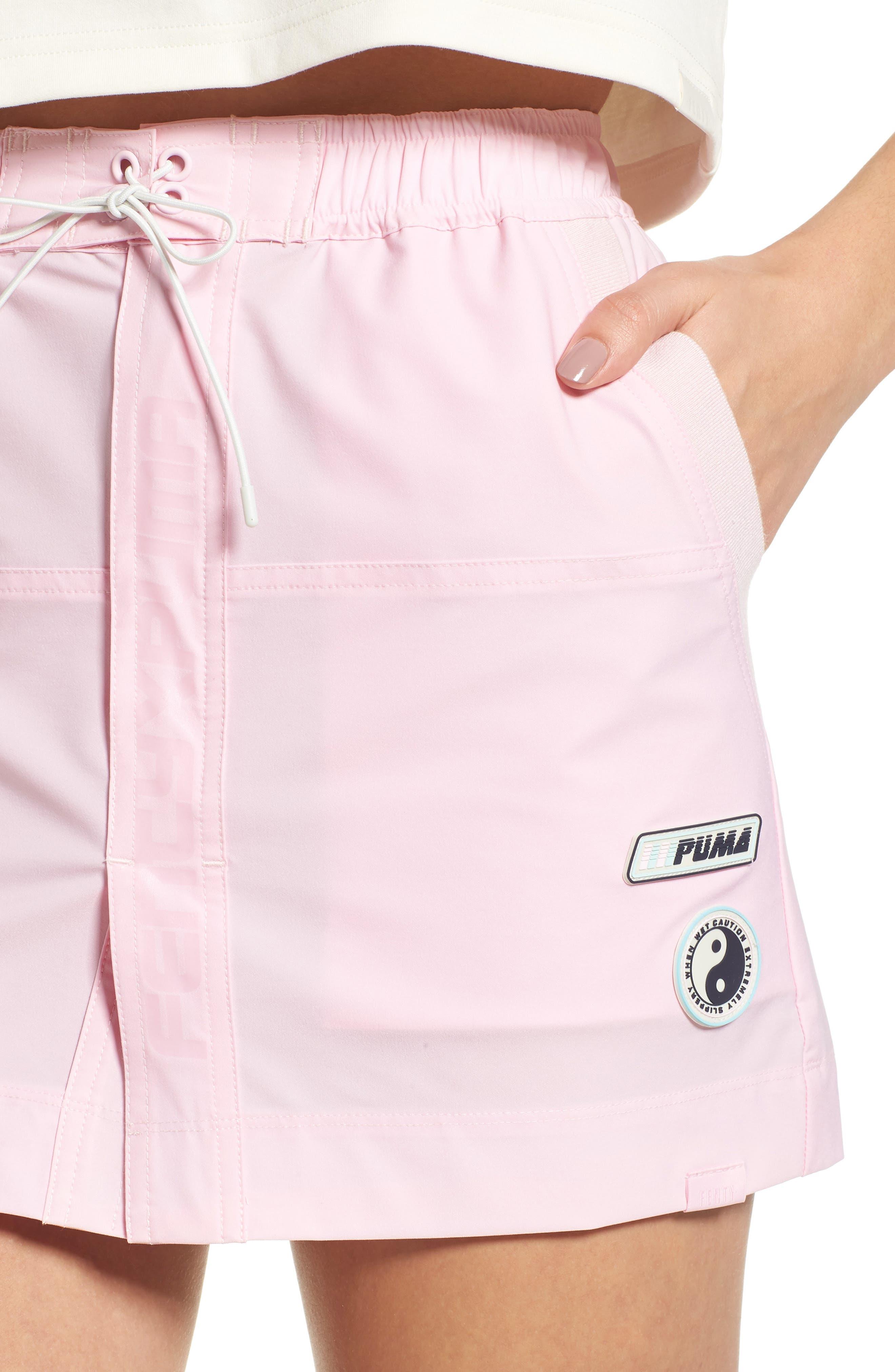 PUMA by Rihanna Board Skirt,                             Alternate thumbnail 4, color,                             Pink Lady