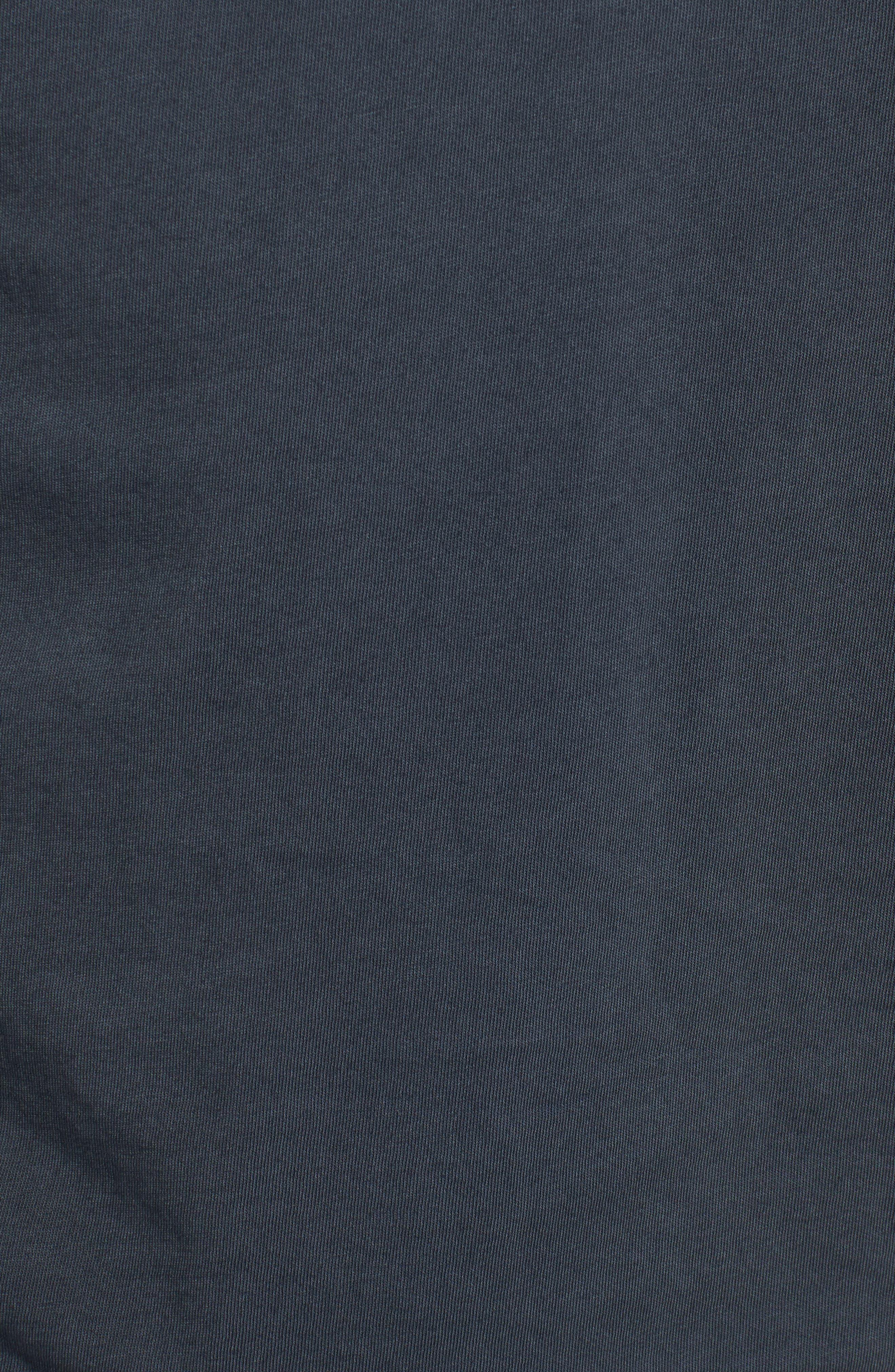 Long Sleeve Henley,                             Alternate thumbnail 5, color,                             Charcoal