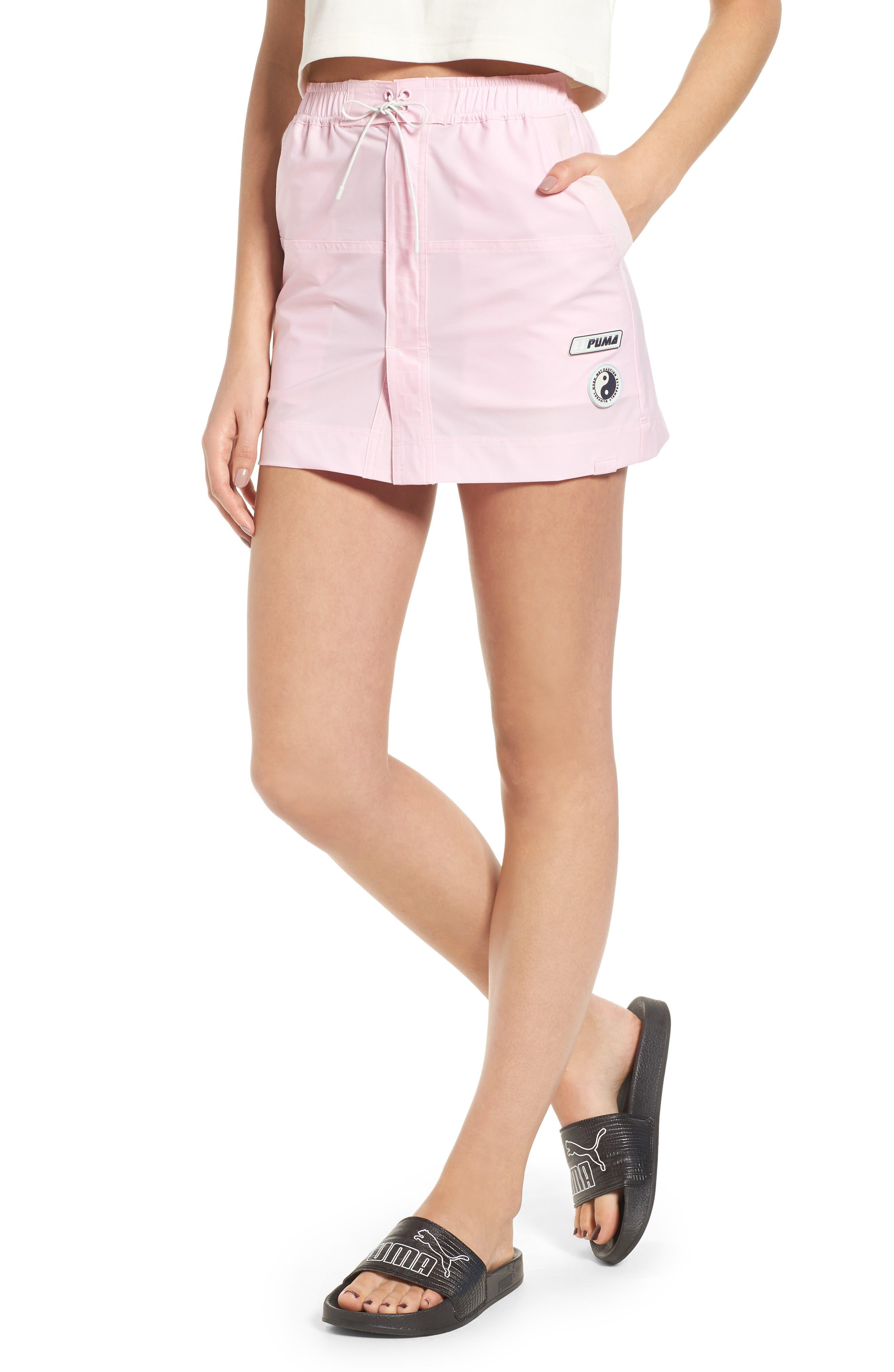 PUMA by Rihanna Board Skirt,                         Main,                         color, Pink Lady