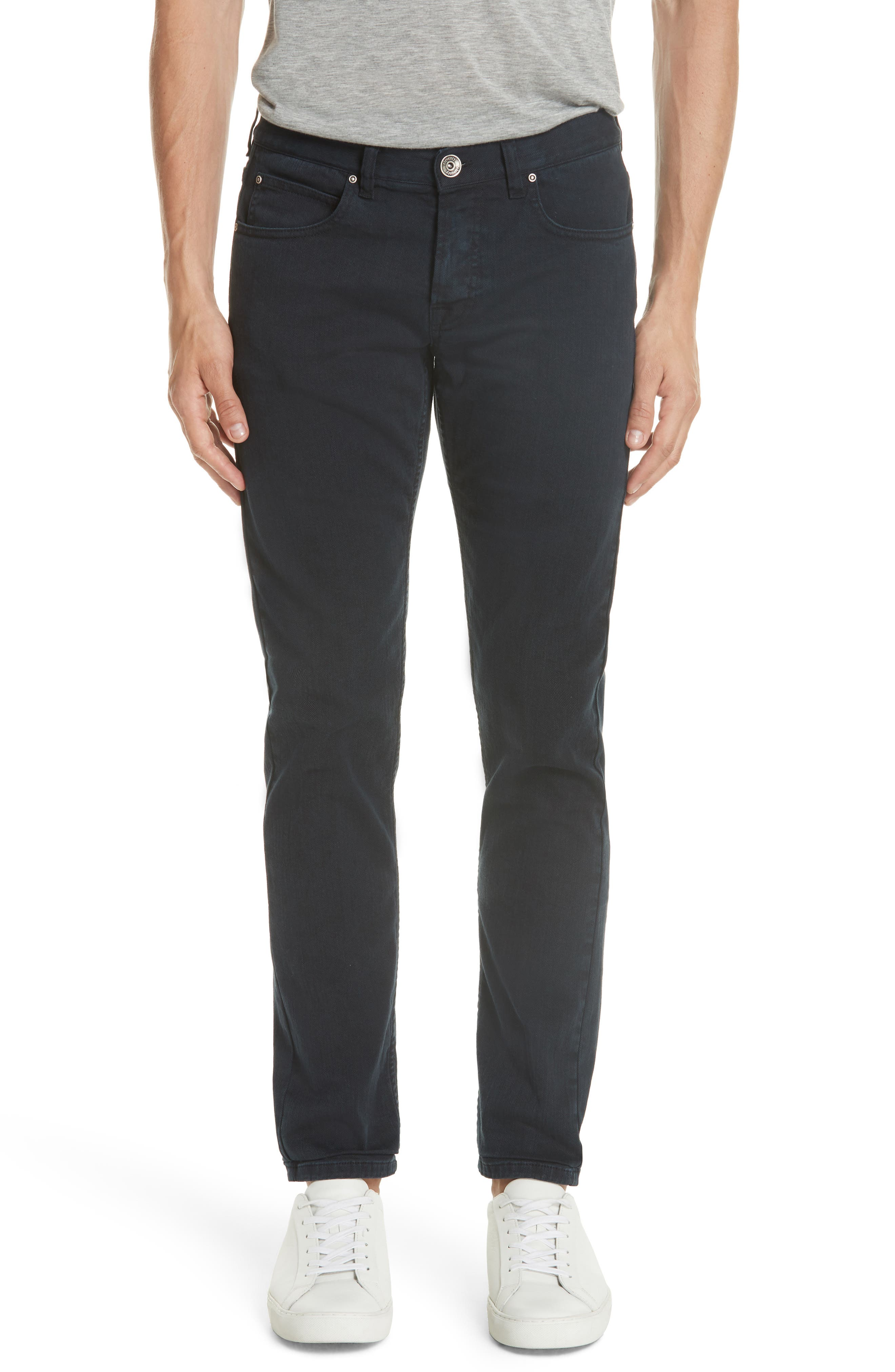 Stretch Cotton Jeans,                         Main,                         color, Navy