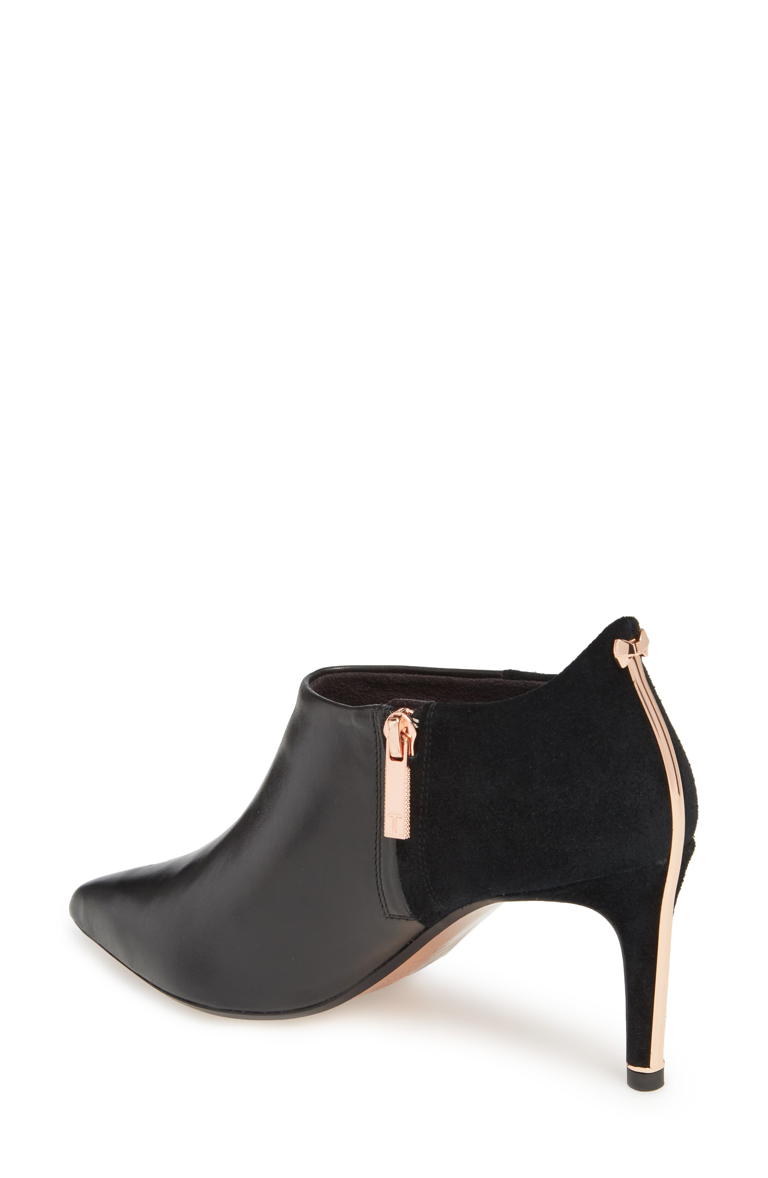 Akasha 2 Bootie,                             Alternate thumbnail 2, color,                             Black Leather