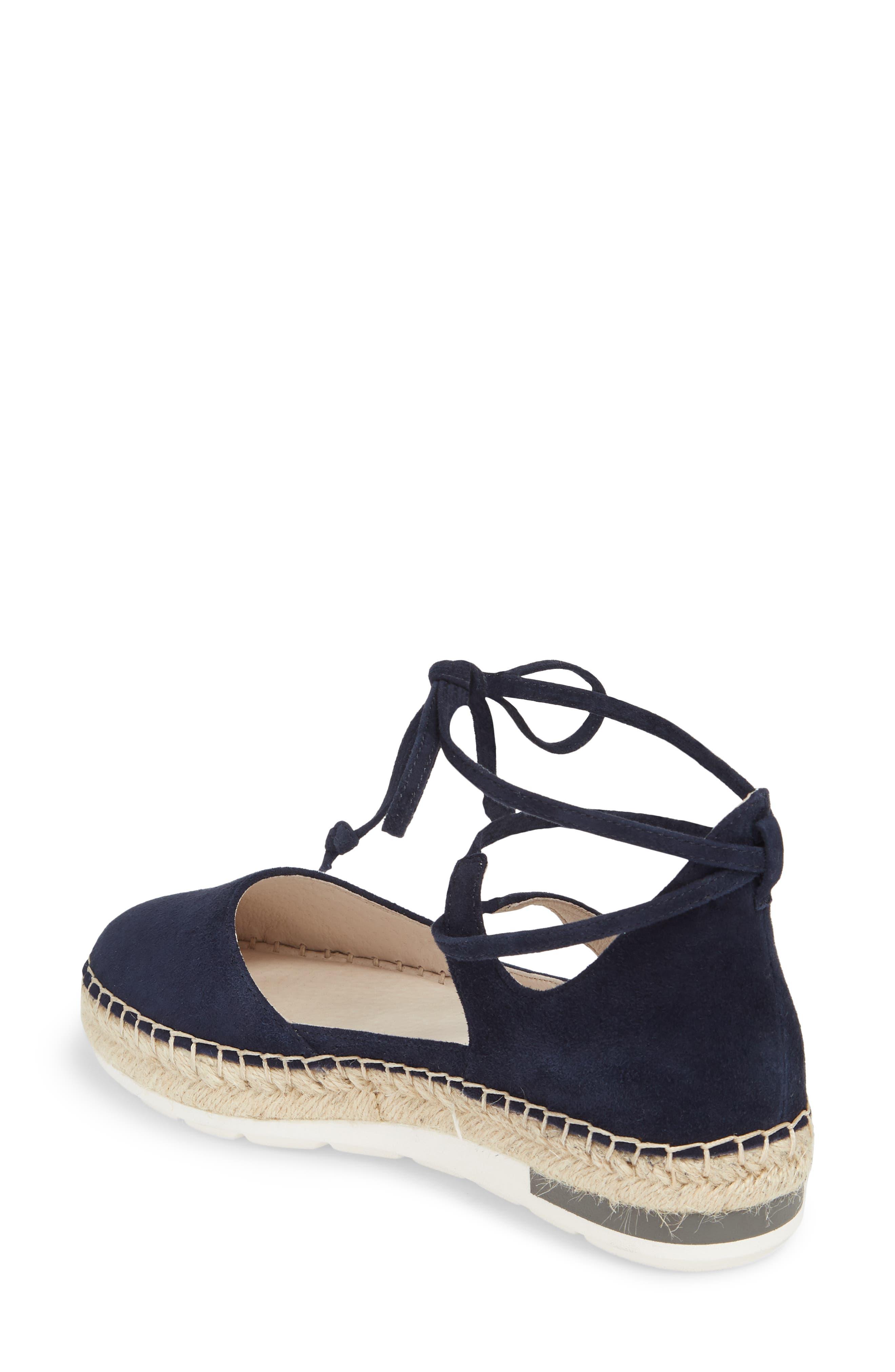 Leena Ankle Strap Sandal,                             Alternate thumbnail 2, color,                             Navy Suede