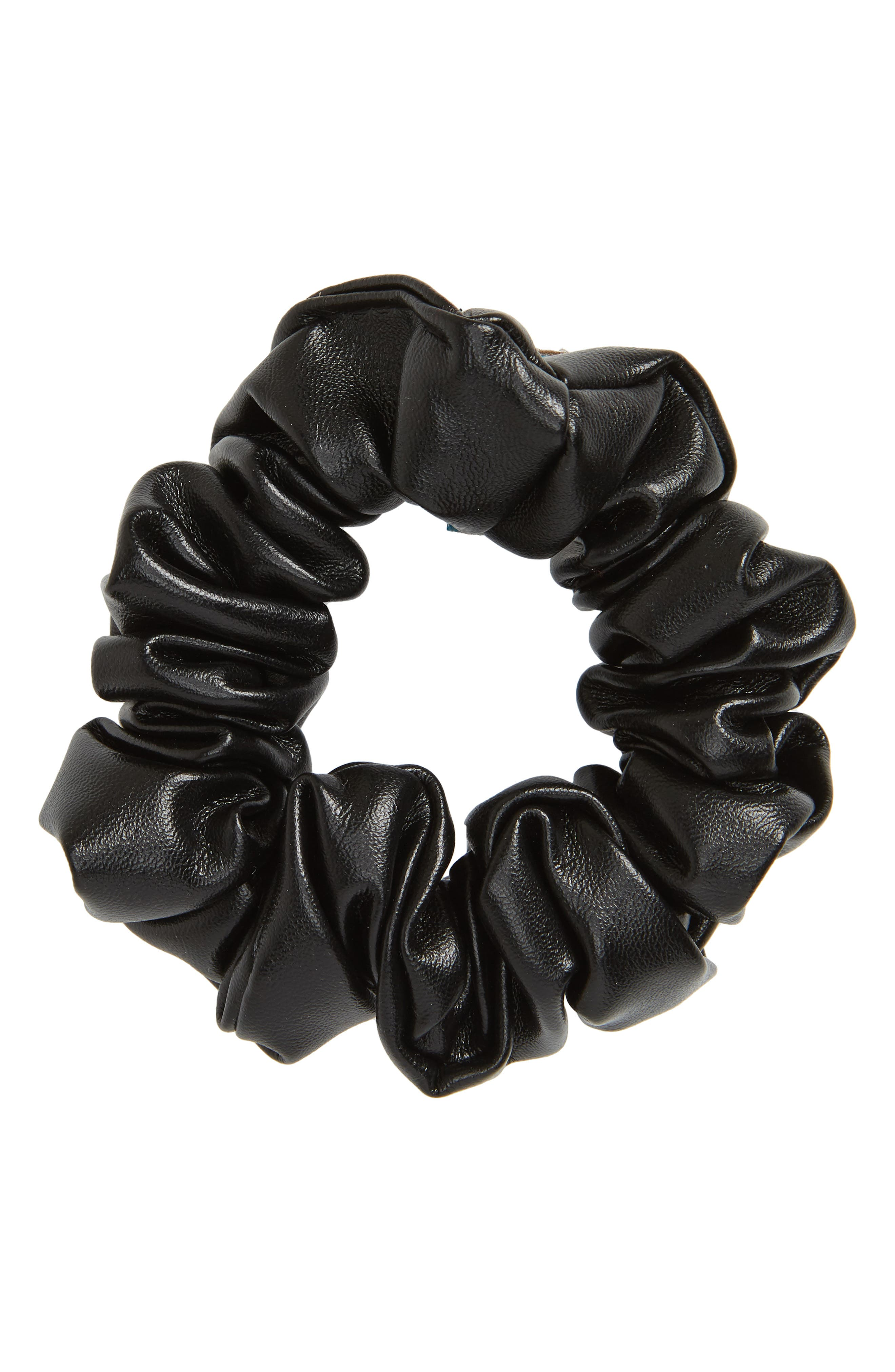 Tasha Faux Leather Scrunchie