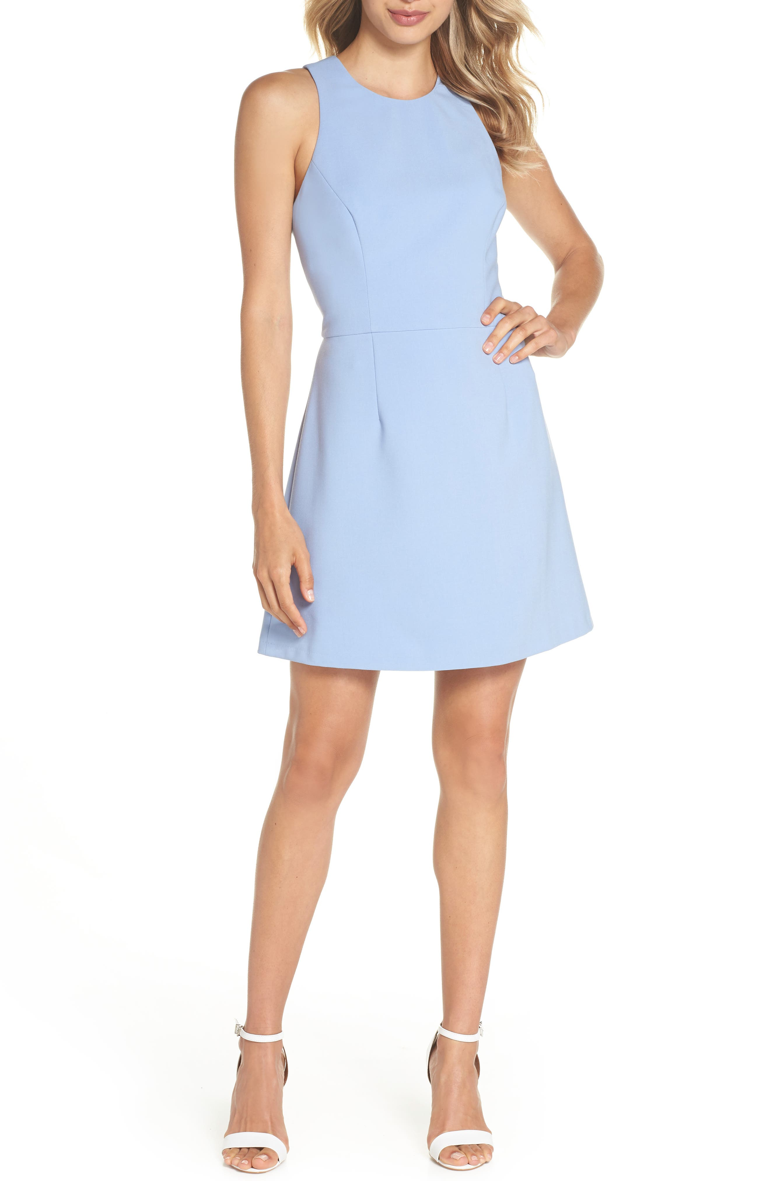 V-Back Tank Dress,                         Main,                         color, Ancona Blue