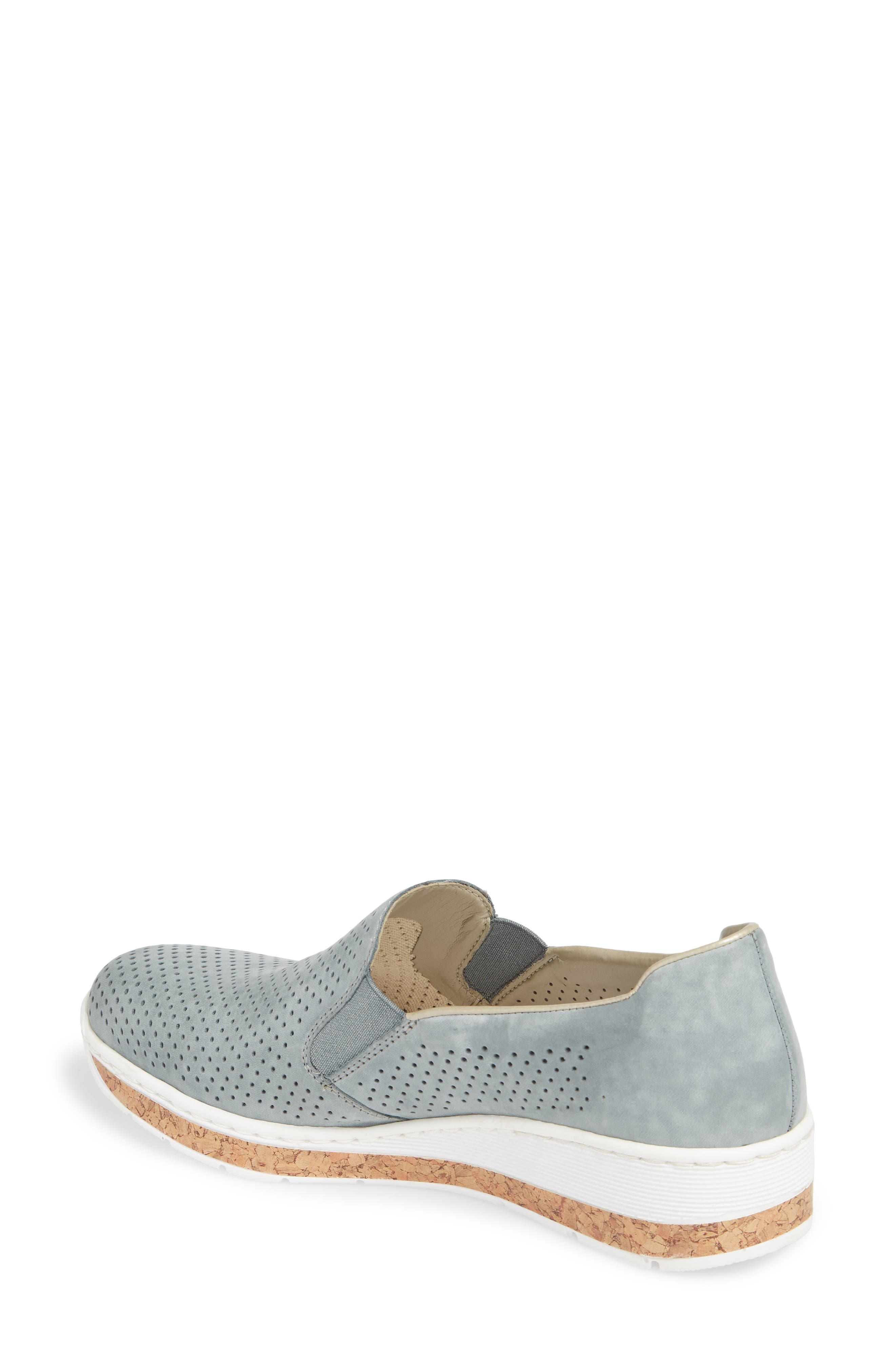 Doris 75 Wedge Sneaker,                             Alternate thumbnail 2, color,                             Royal Faux Leather