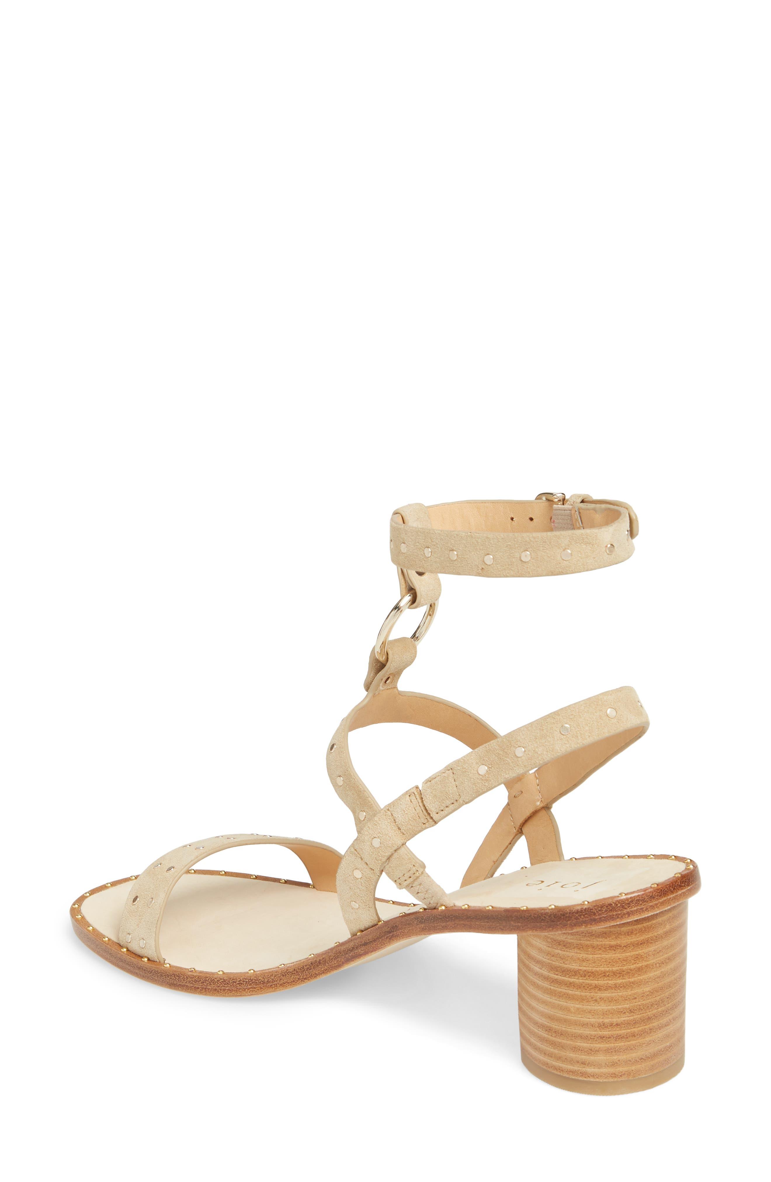 Medalca Studded Ankle Strap Sandal,                             Alternate thumbnail 2, color,                             Sand