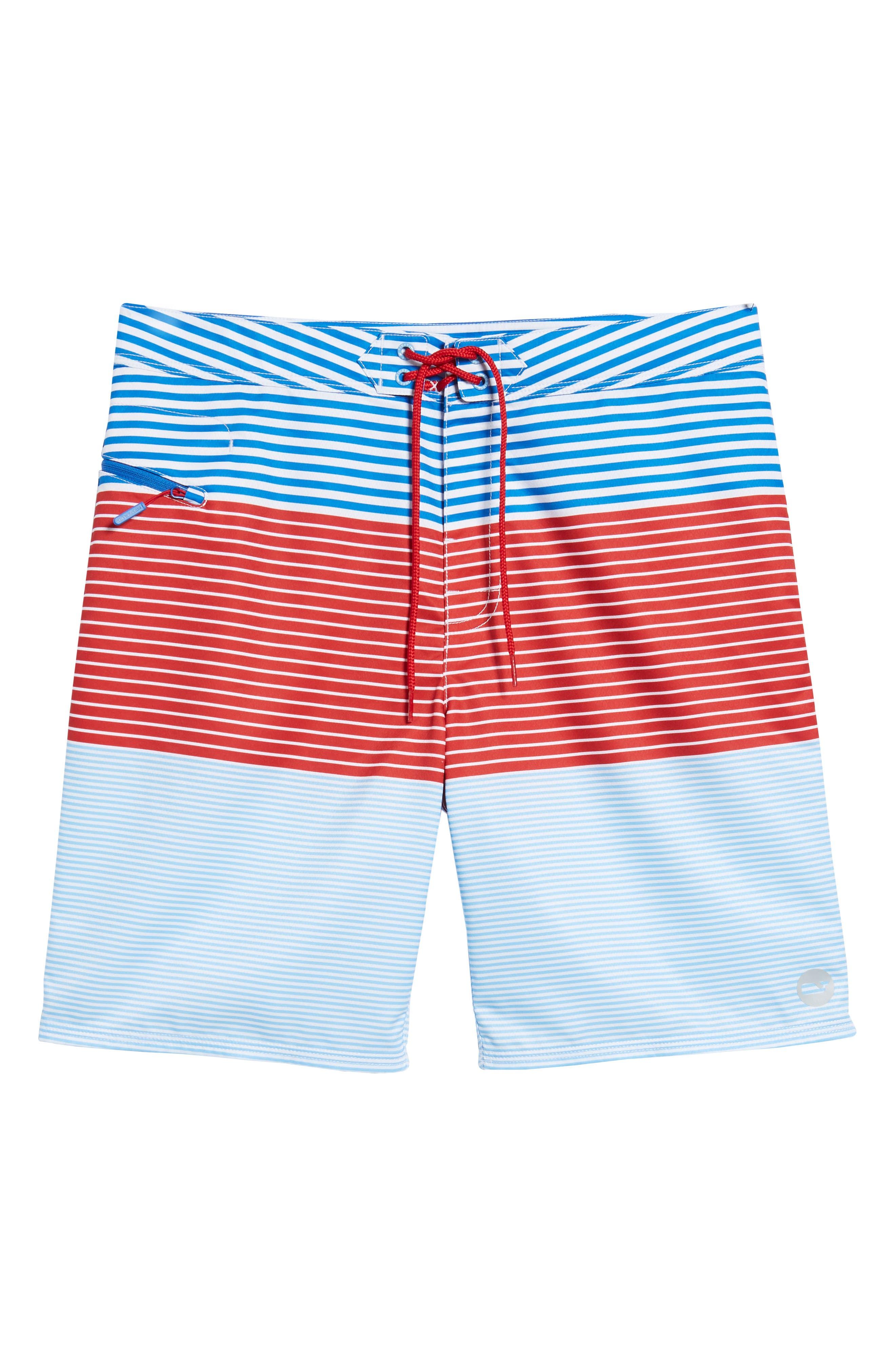 Whale Harbor Stripe Board Shorts,                             Alternate thumbnail 6, color,                             Spinnaker