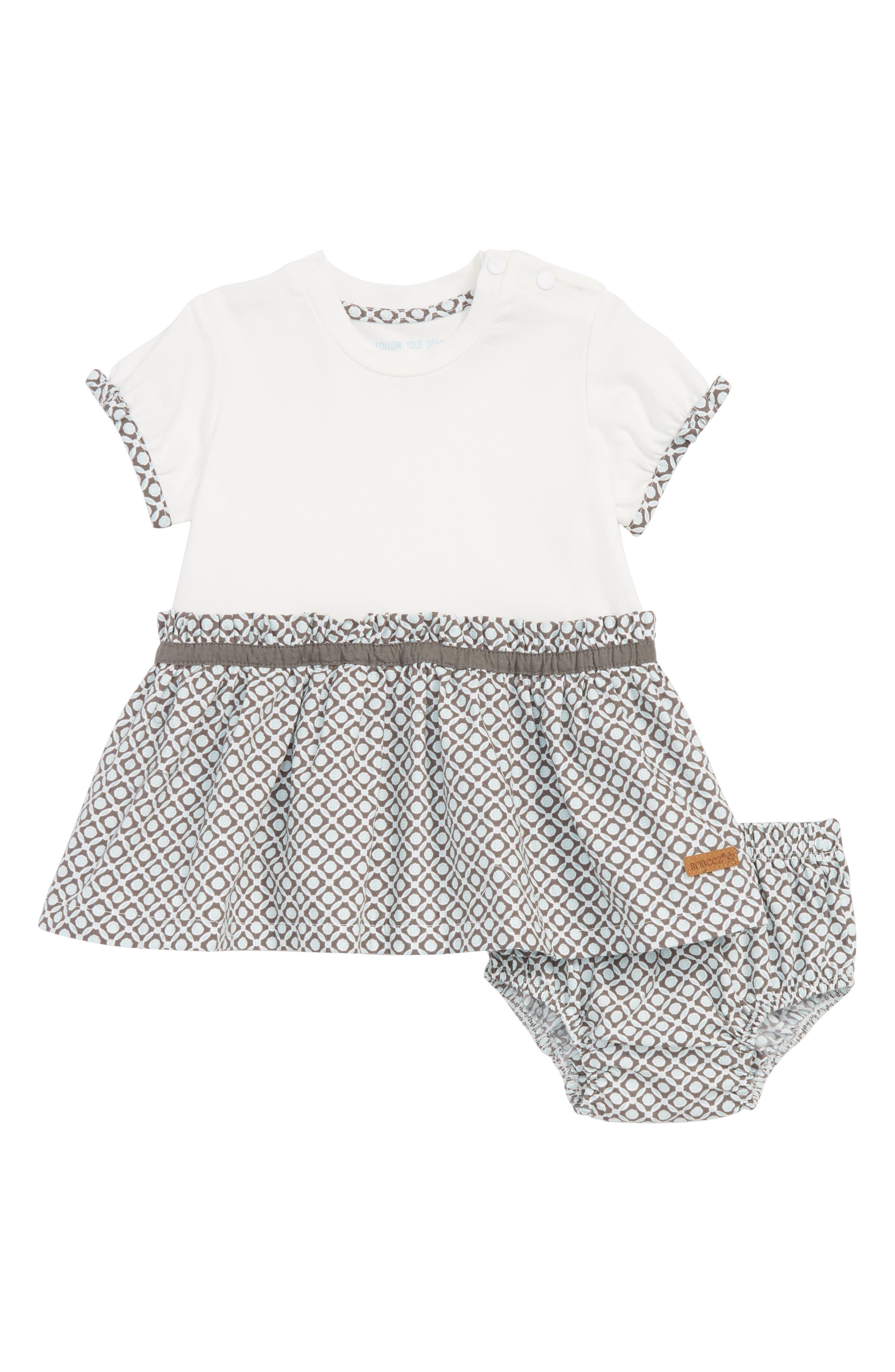Geo Dress,                         Main,                         color, White