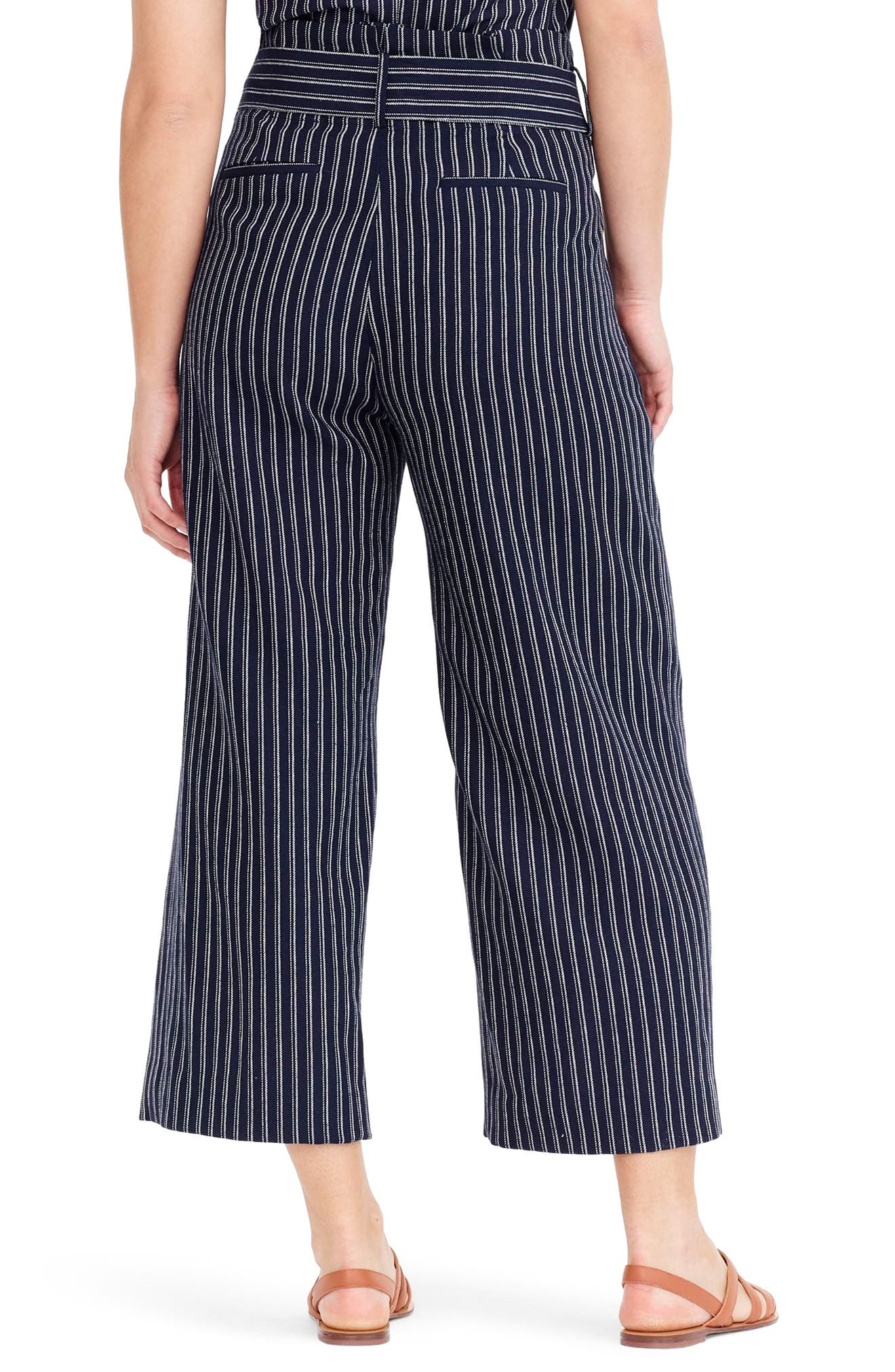 Point Sur Paperbag Pants,                             Alternate thumbnail 2, color,                             Navy White Stripe