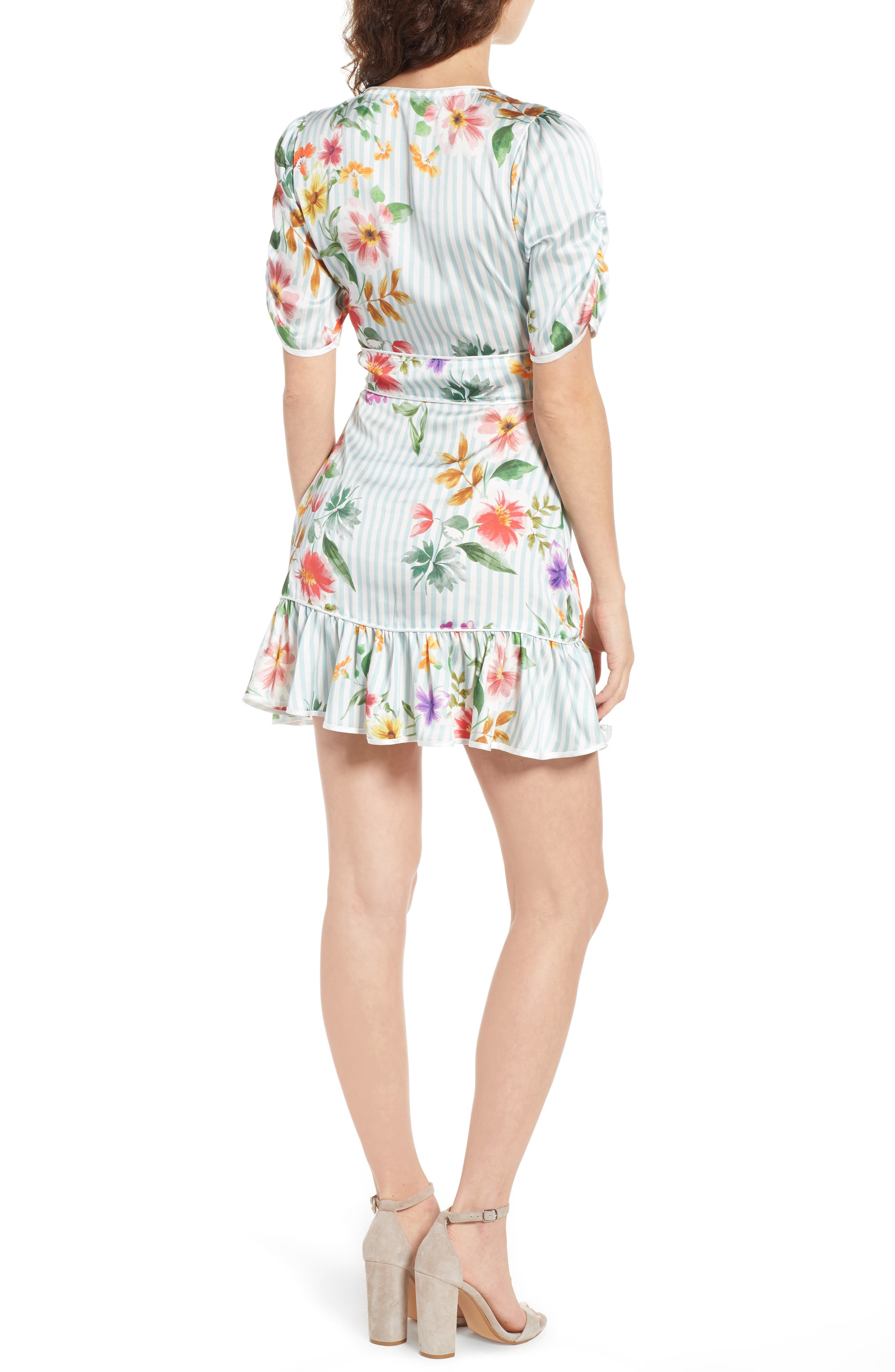 Barb Ruffle Dress,                             Alternate thumbnail 2, color,                             Blue Flowerbed