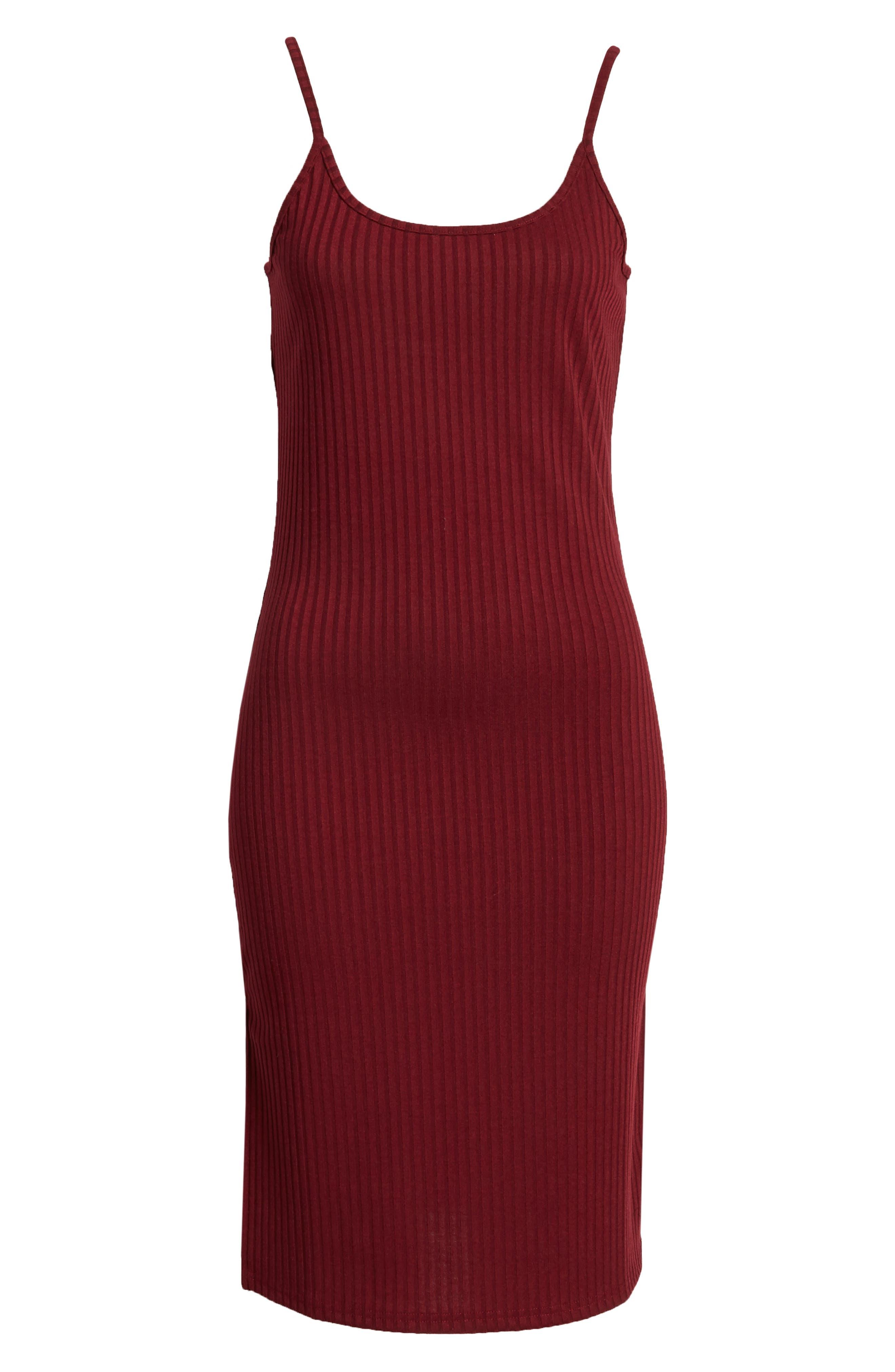 Hannah Dress,                             Alternate thumbnail 7, color,                             Wine
