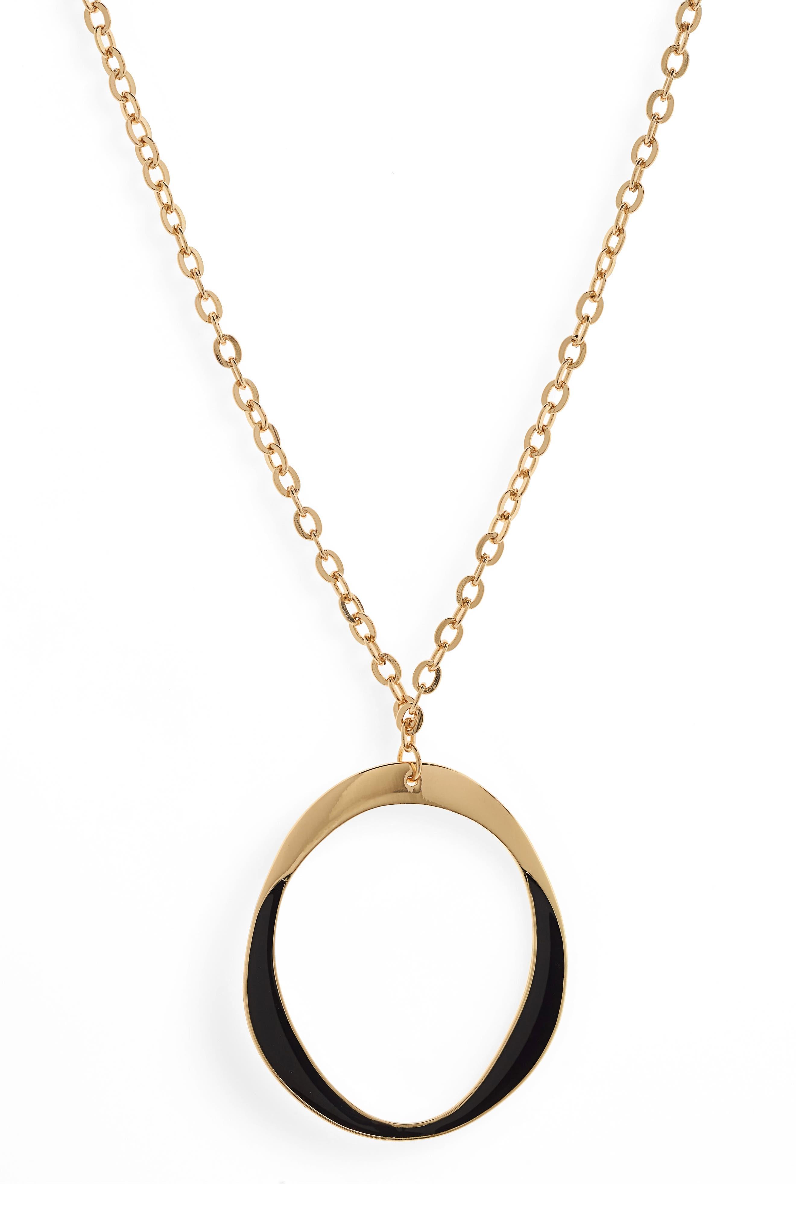 Couture Long Pendant Necklace,                             Alternate thumbnail 2, color,                             Gold