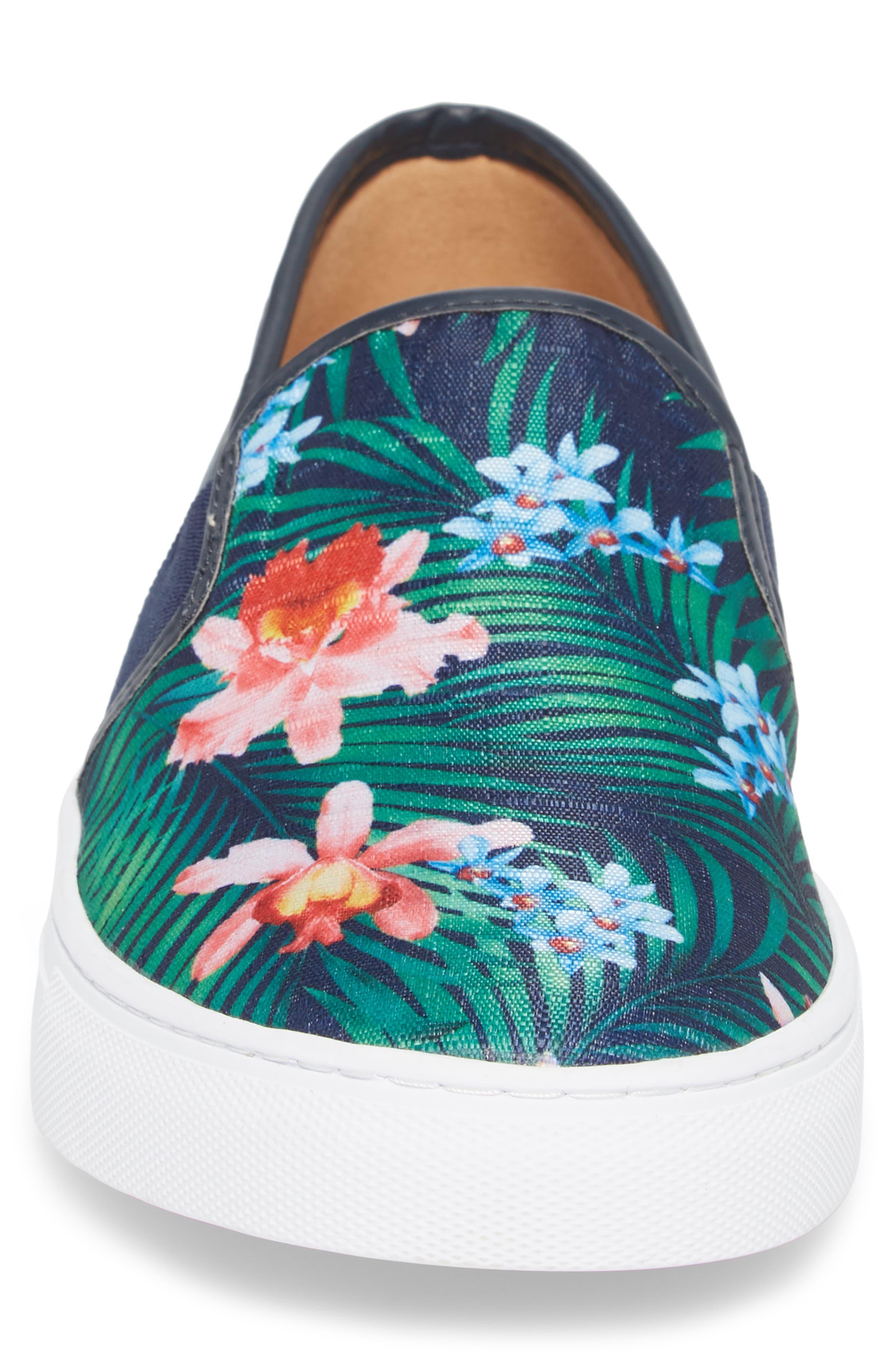 Fish 'N' Chips Bali Slip-On Sneaker,                             Alternate thumbnail 4, color,                             Navy Multi Fabric