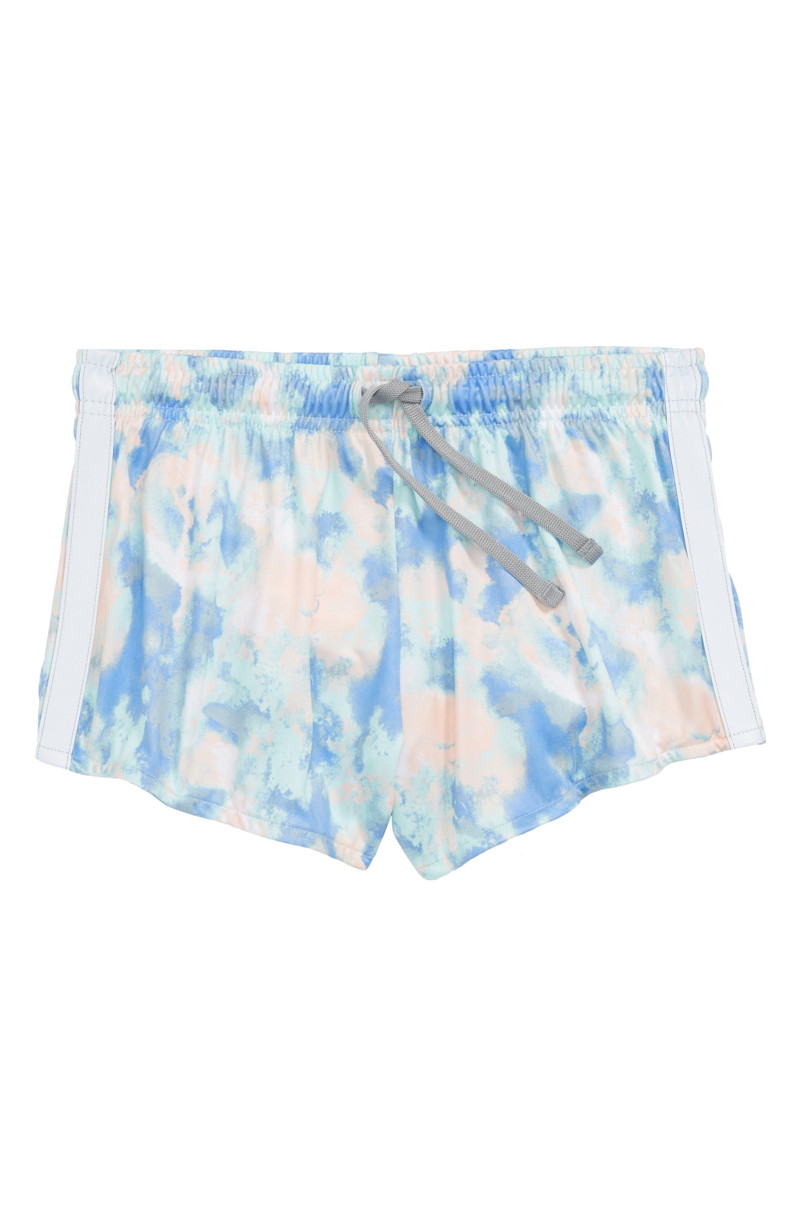 Zella Girl Reflective Side Stripe Shorts (Little Girls & Big Girls)