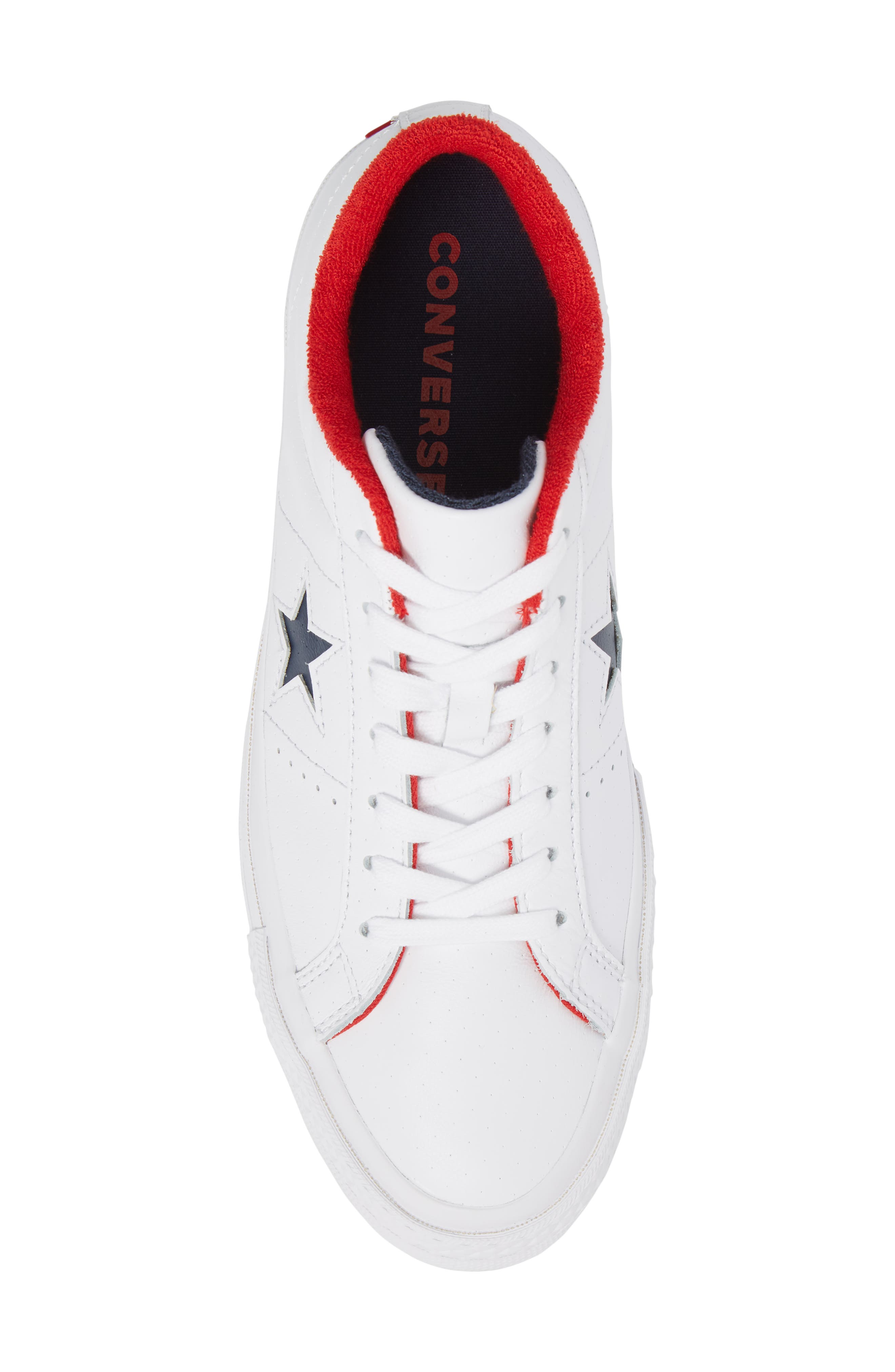 Chuck Taylor<sup>®</sup> One Star Grand Slam Sneaker,                             Alternate thumbnail 5, color,                             White/ Navy Leather