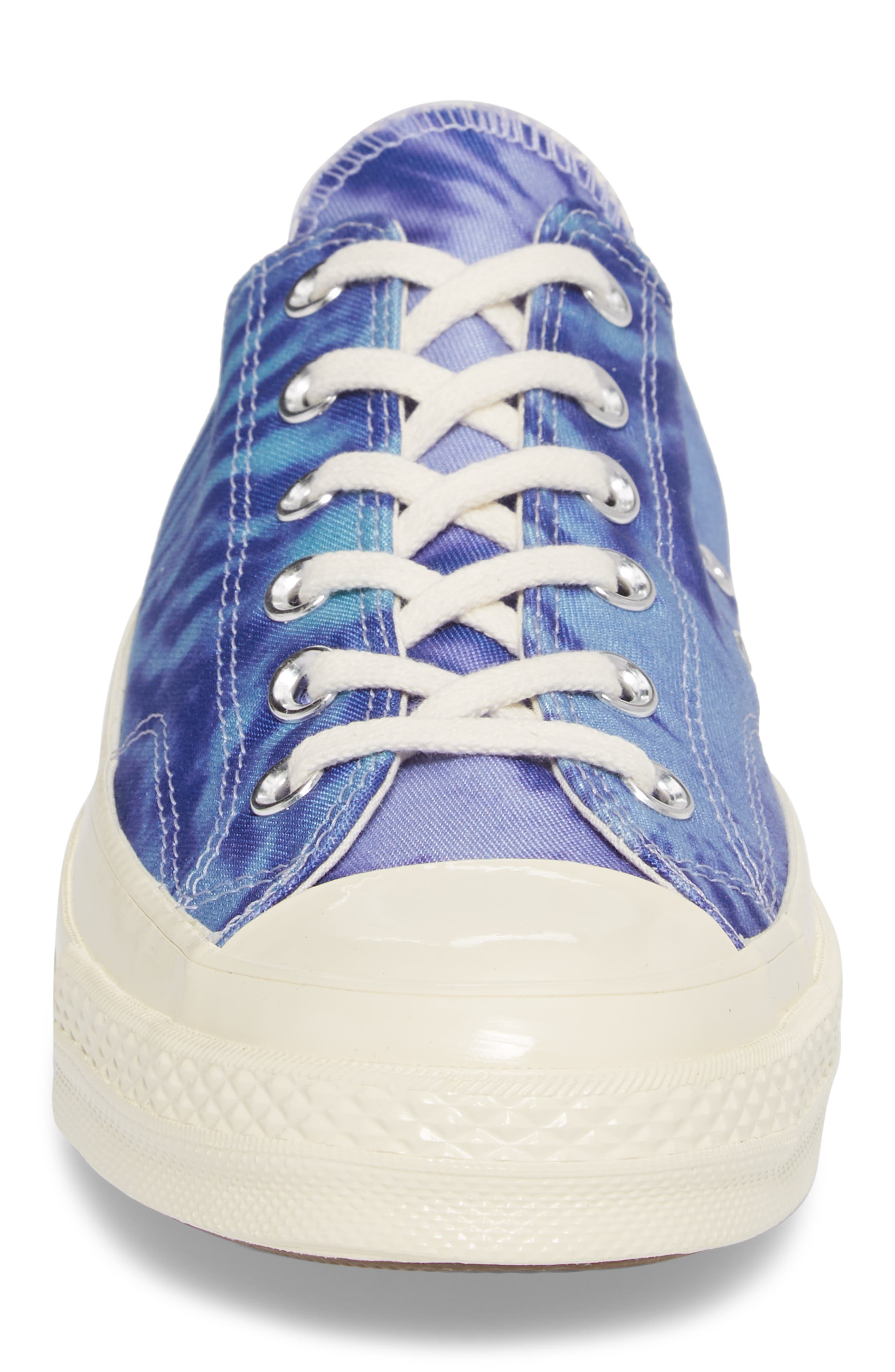 Chuck Taylor<sup>®</sup> All Star<sup>®</sup> 70 Tie Dye Low Top Sneaker,                             Alternate thumbnail 4, color,                             Shoreline Blue