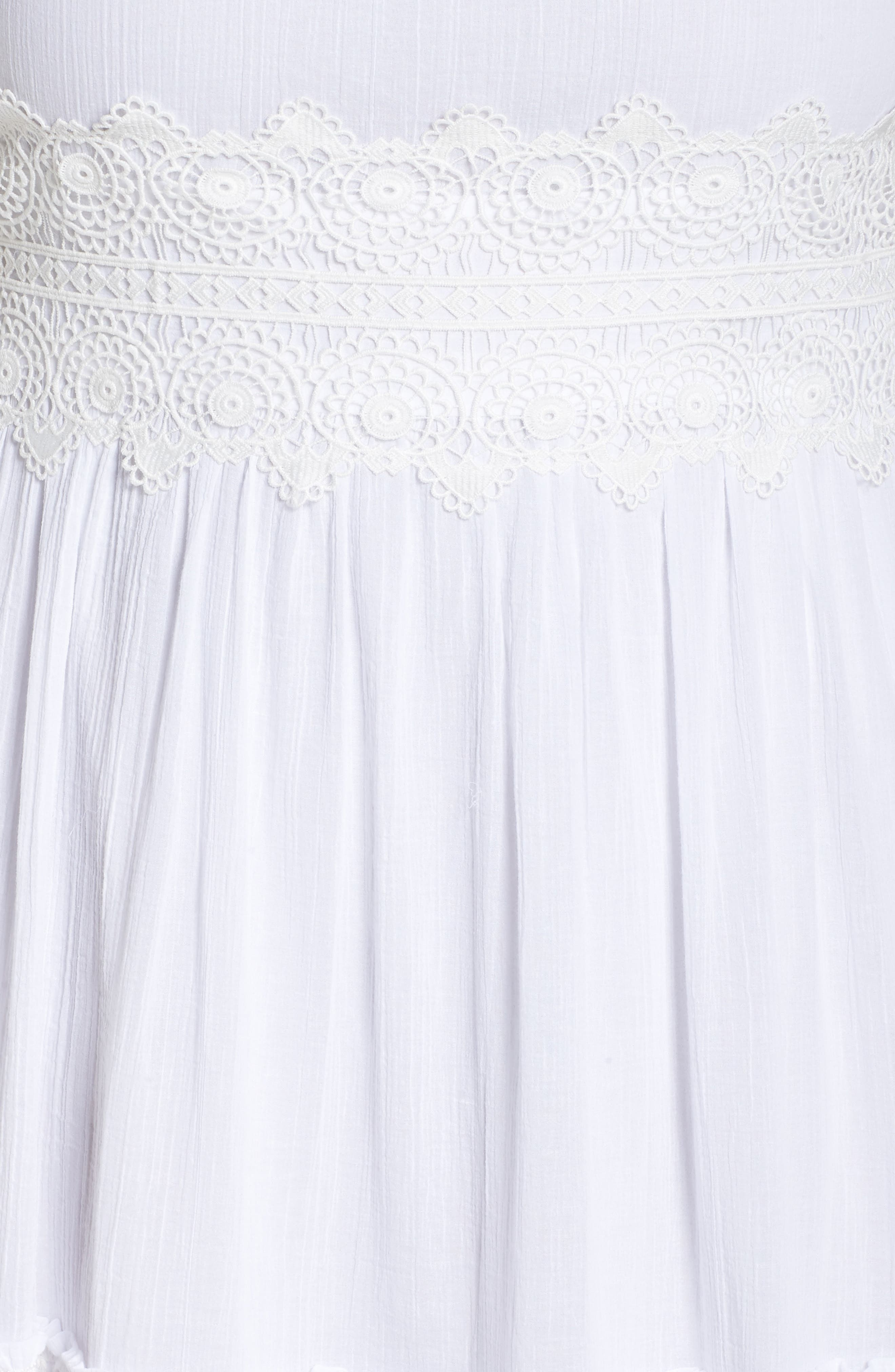 Halter Neck Cotton Maxi Dress,                             Alternate thumbnail 6, color,                             Ivory