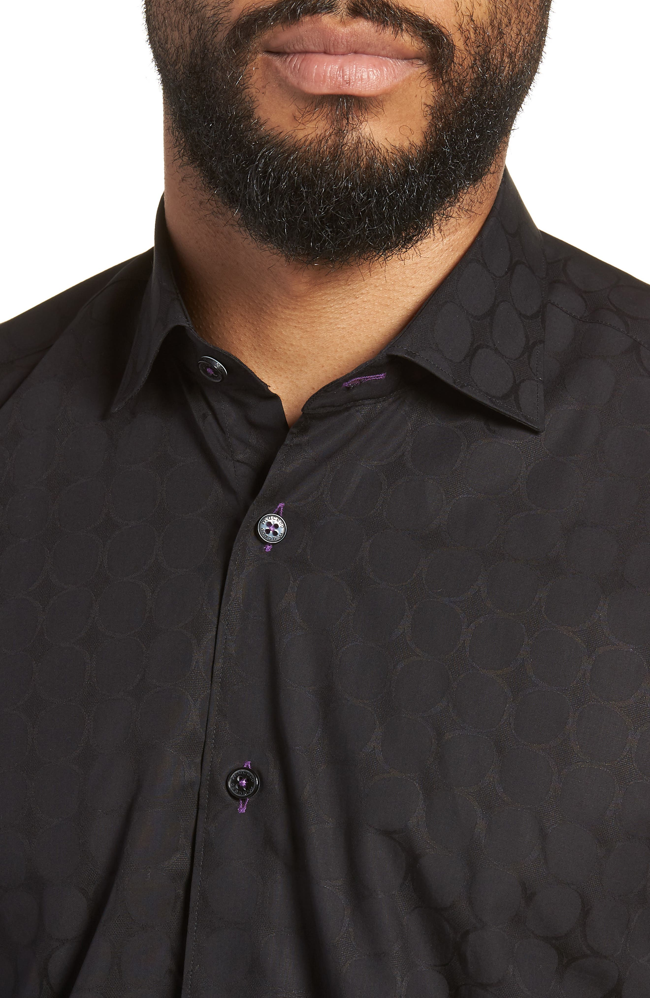 Luxor Bond Sport Shirt,                             Alternate thumbnail 2, color,                             Black