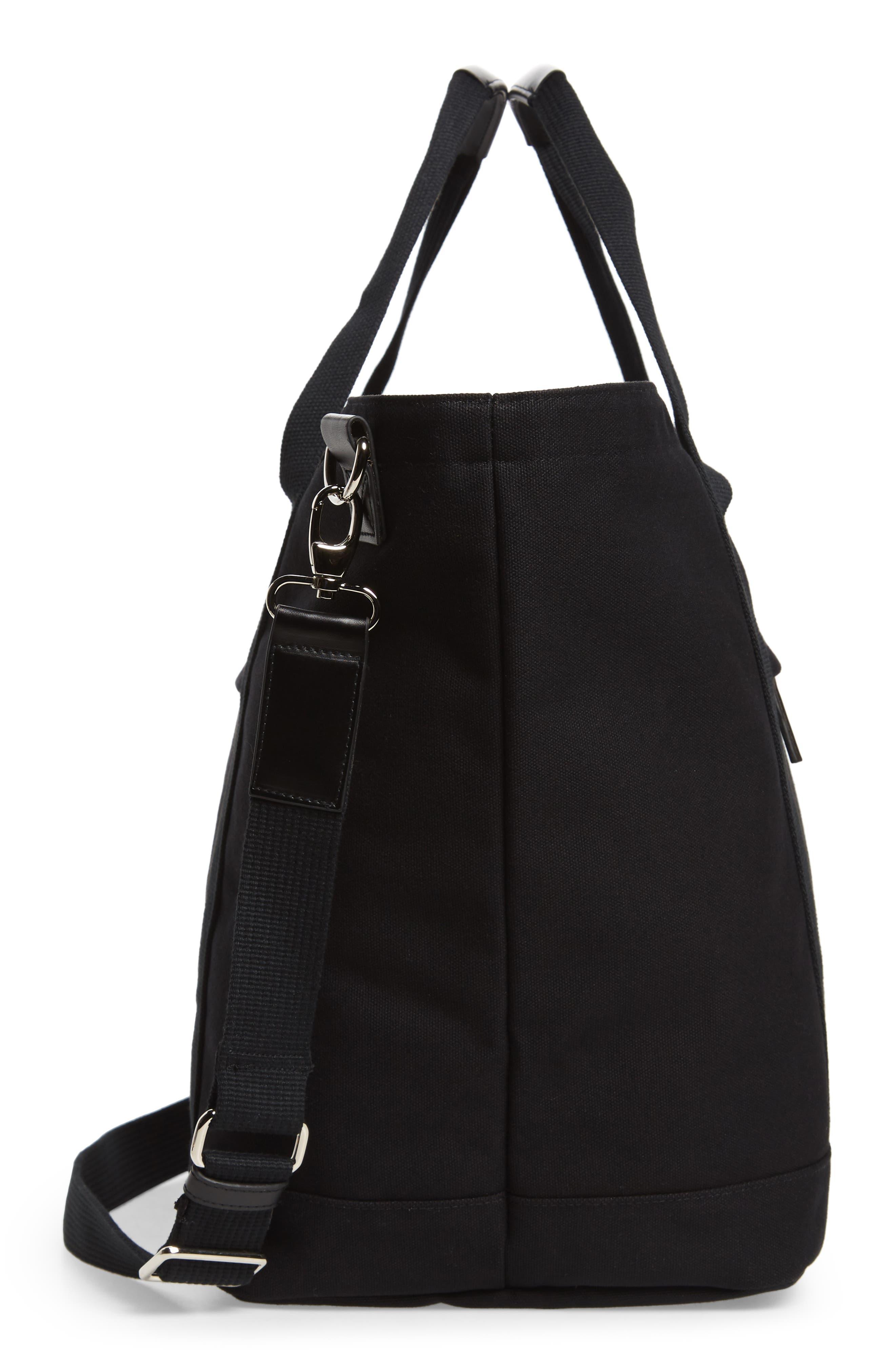 Weekend Water Repellent Tote Bag,                             Alternate thumbnail 5, color,                             Black