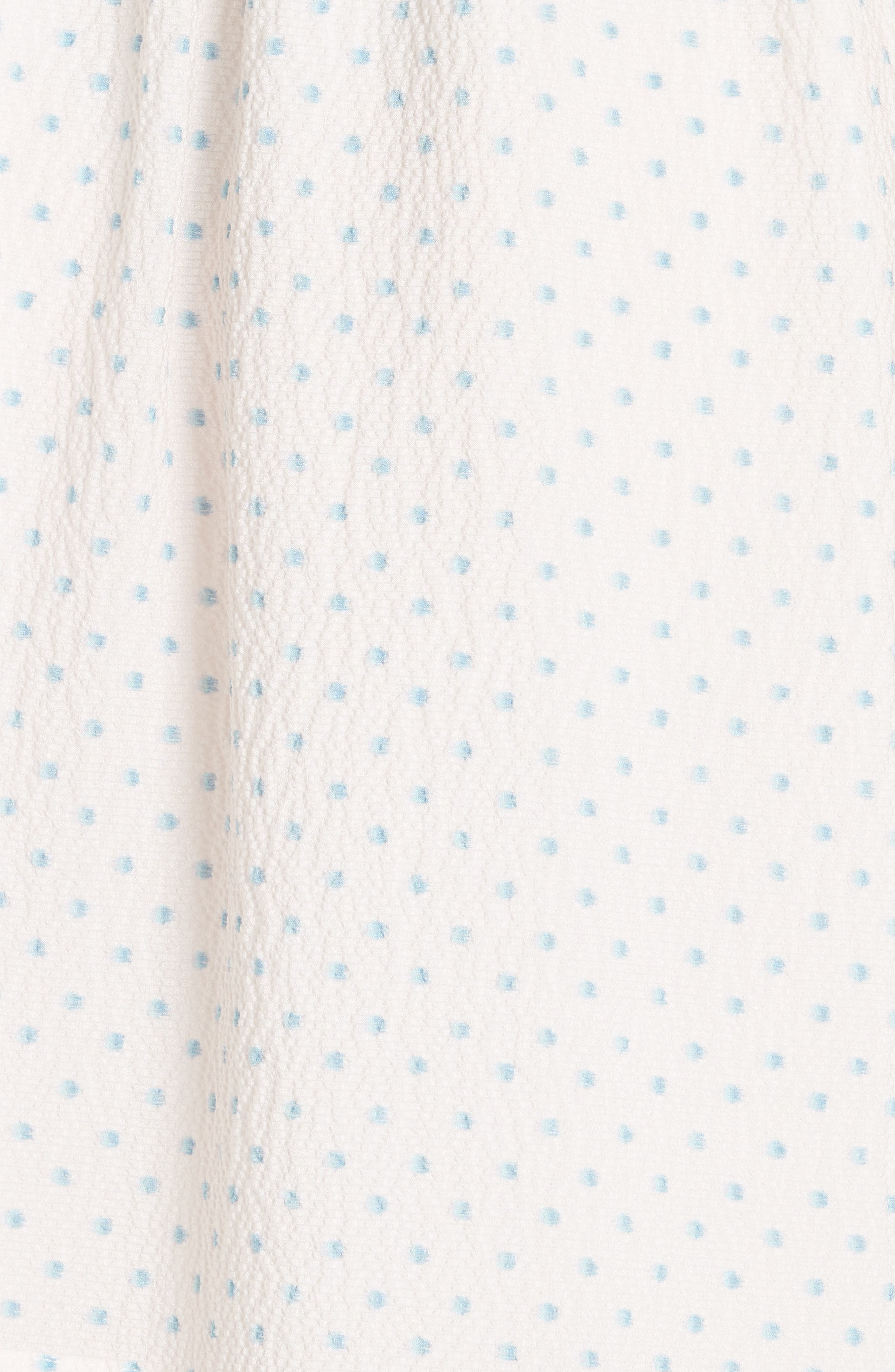 Dot Ruffle Faux Wrap Dress,                             Alternate thumbnail 3, color,                             Vanilla Combo