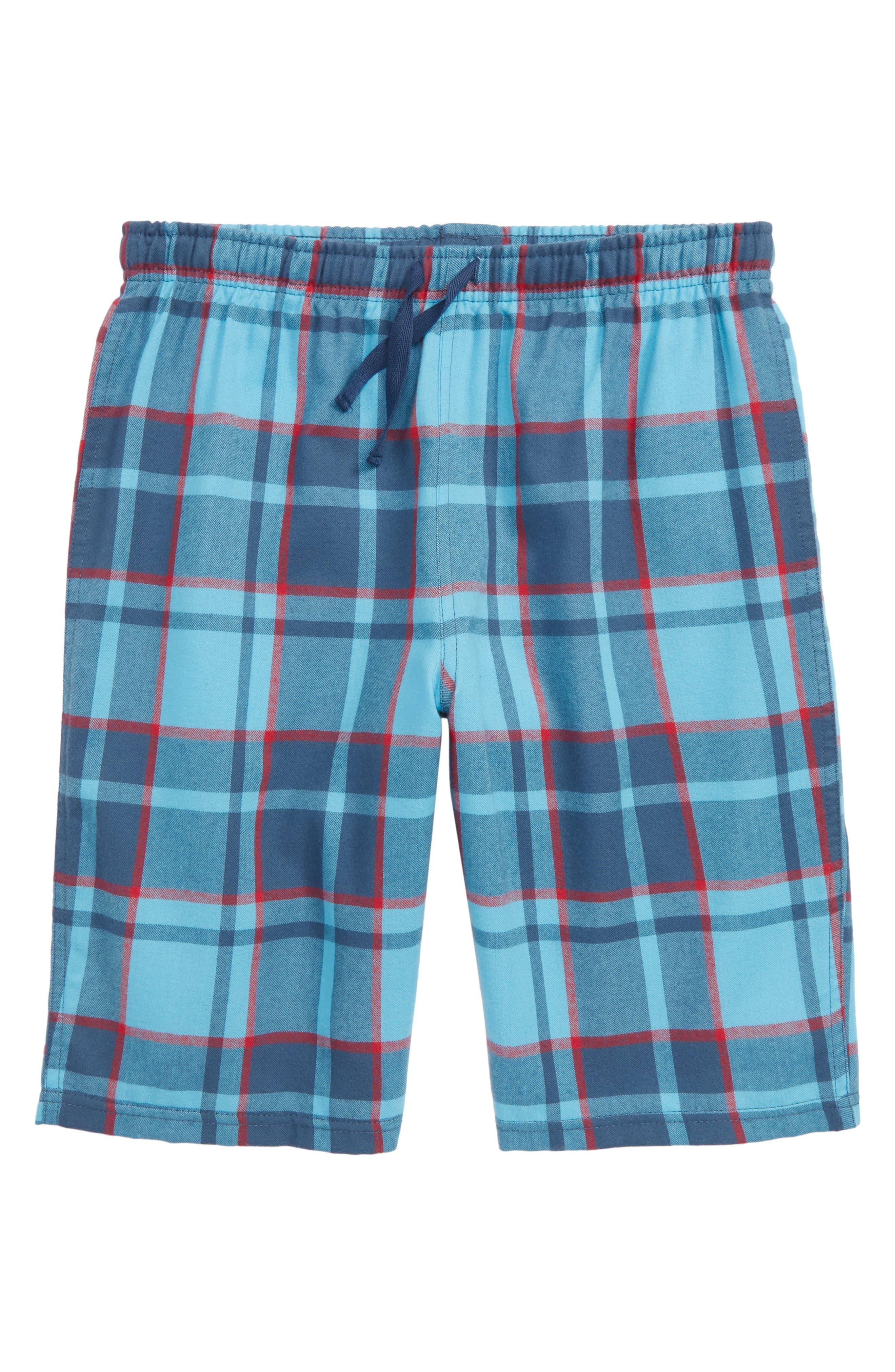 Flannel Shorts,                         Main,                         color, Blue River- Navy Plaid